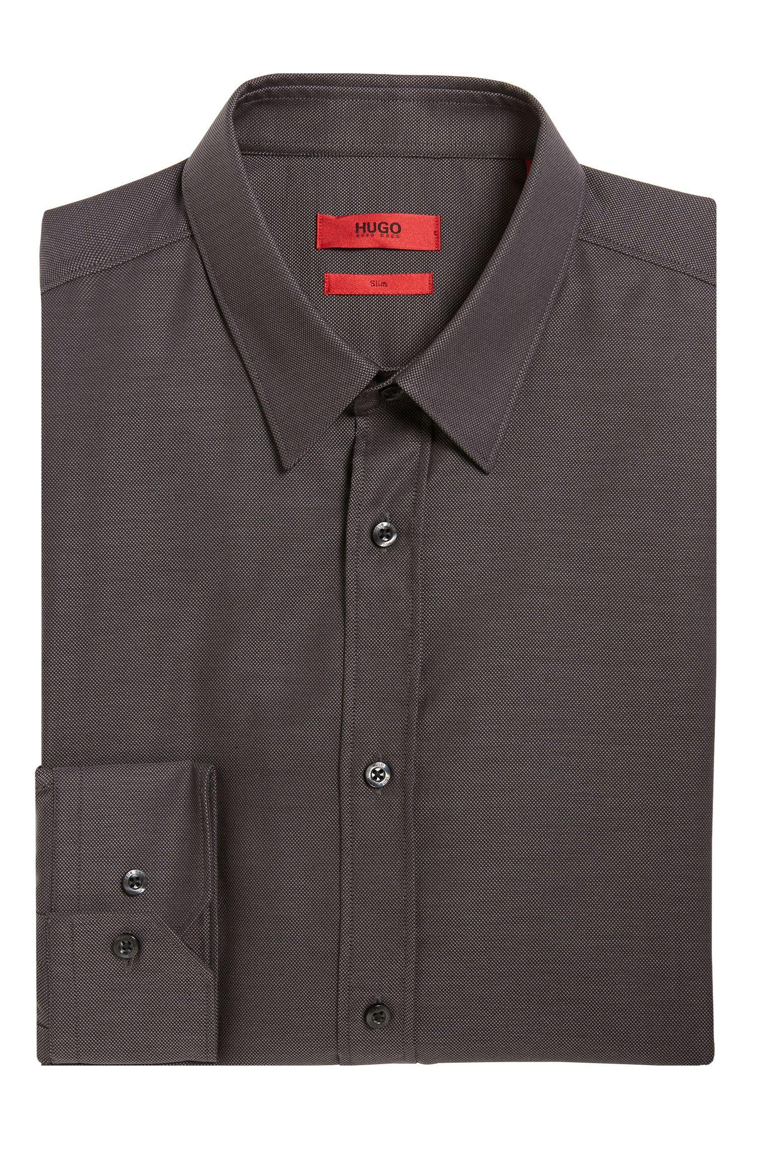 Slim-fit zakelijk overhemd 'Elisha01' van gemakkelijk te strijken katoen
