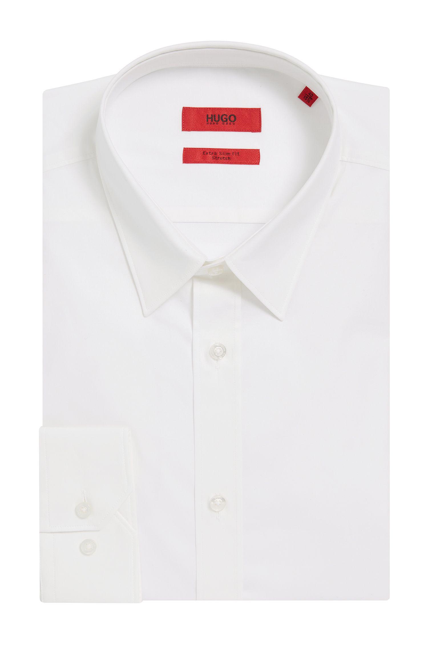 Unifarbenes Slim-Fit Hemd aus Stretch-Baumwolle: 'Elisha'