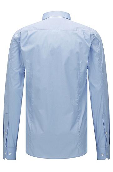 Unifarbenes Slim-Fit Hemd aus Stretch-Baumwolle: 'Elisha', Hellblau