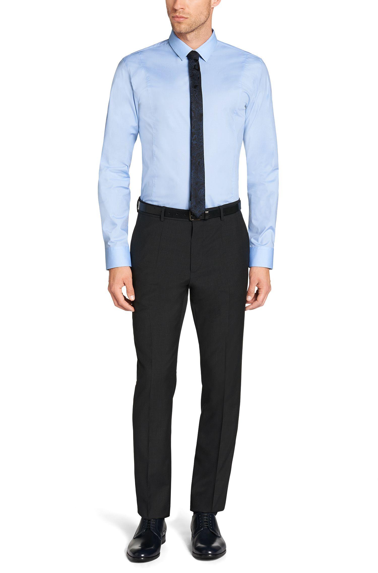 Slim-fit overhemd van stretchkatoen: 'Etello'
