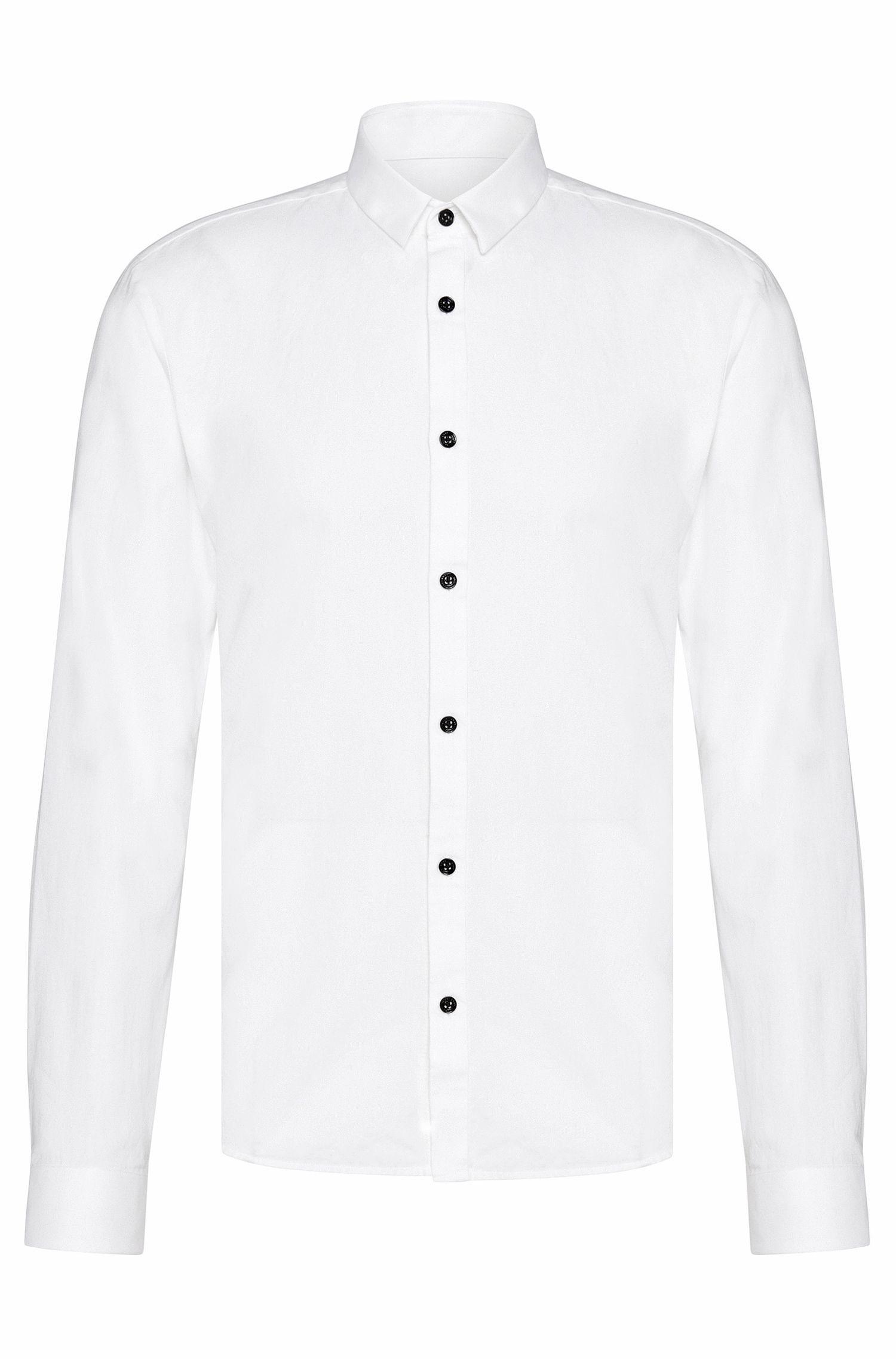 Camicia slim fit in cotone leggermente lavorato: 'Ero3'