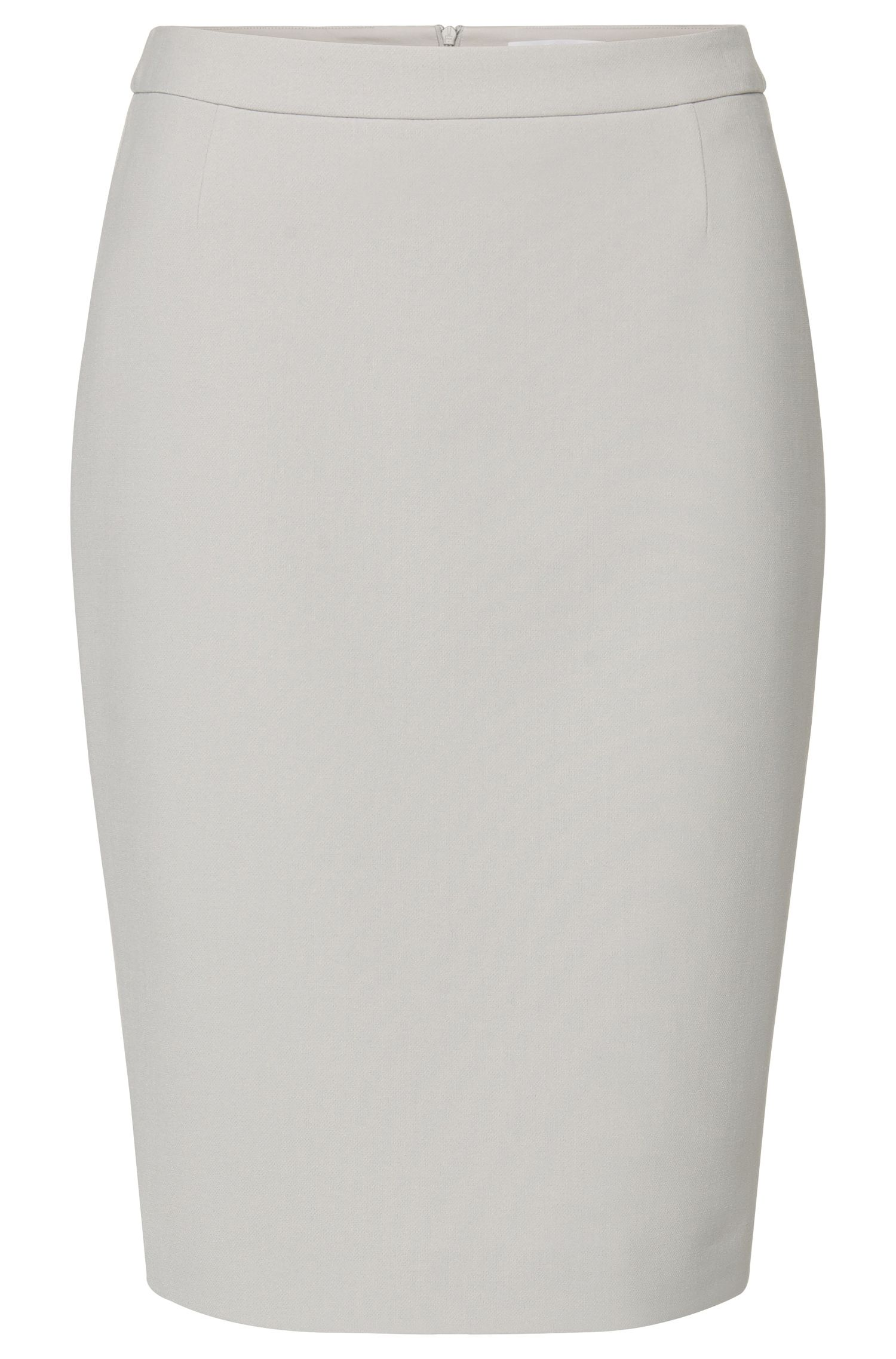 Plain pencil skirt with walking slit at the back: 'Valeti'