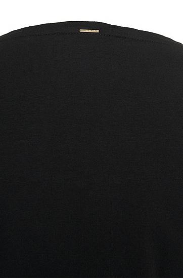 Top aus Stretch-Baumwolle mit Biesen: 'Emmilla', Schwarz