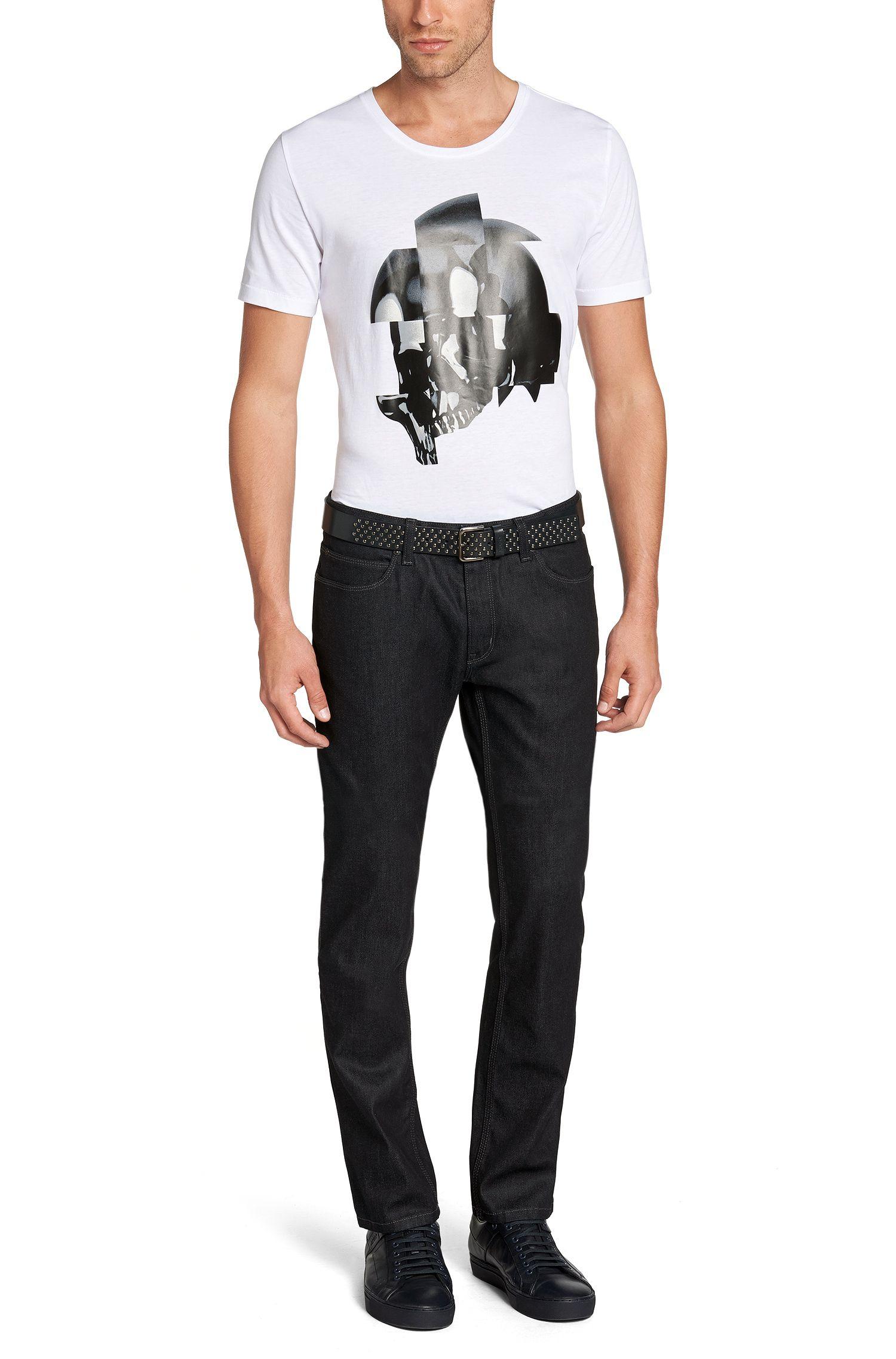 Slim-fit jeans van een katoenmix: 'HUGO 708'