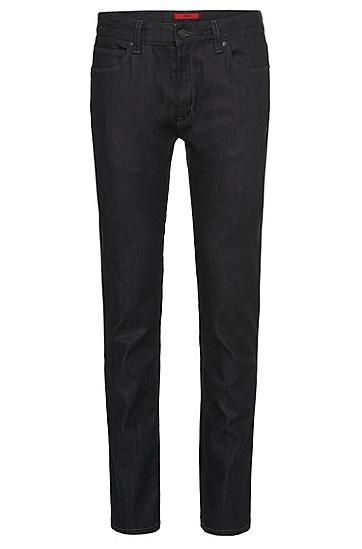 Slim-Fit Jeans aus Baumwoll-Mix: 'HUGO 708', Dunkelblau