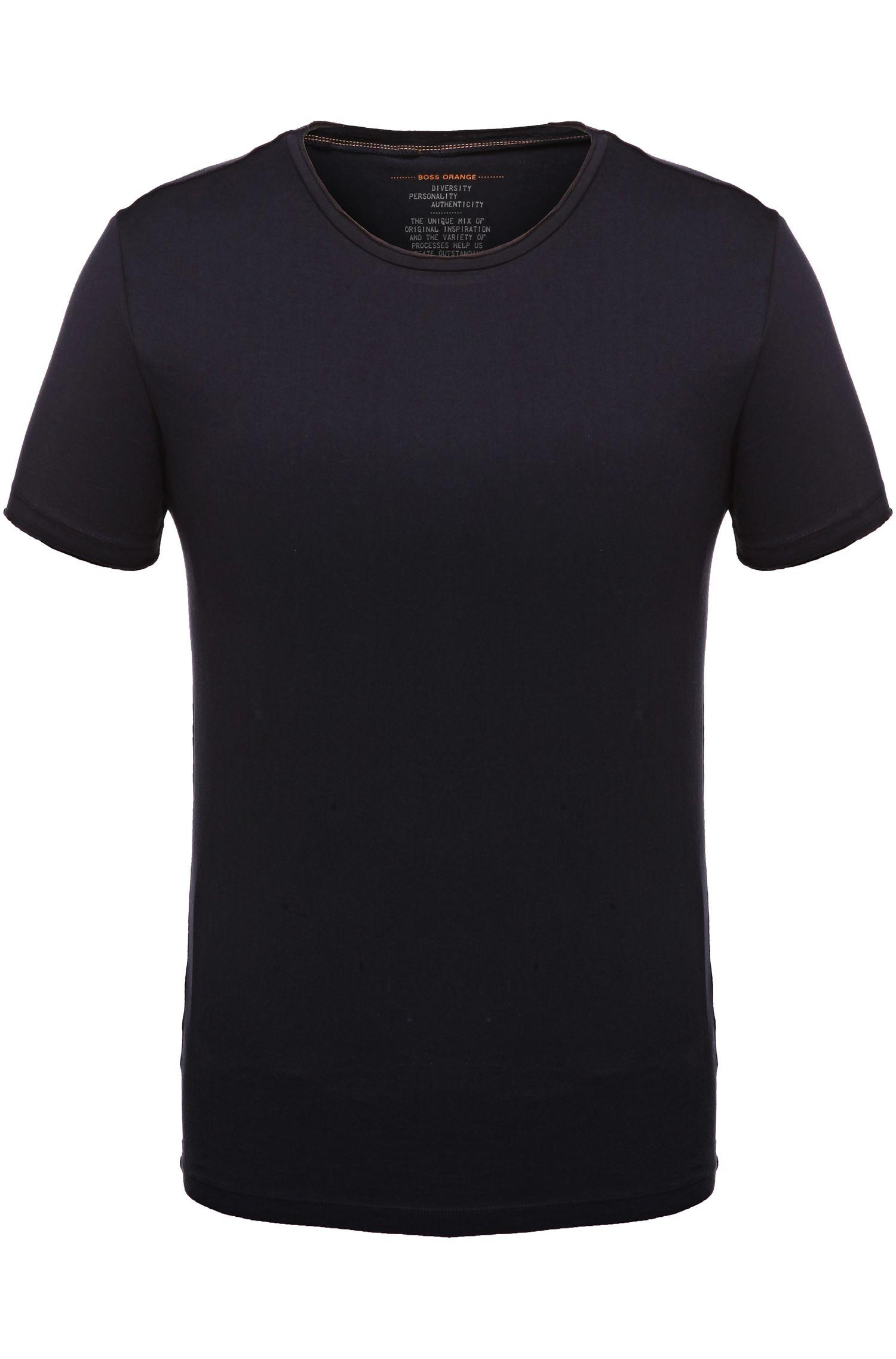 Regular-Fit T-Shirt mit offenen Abschlüssen von BOSS Orange