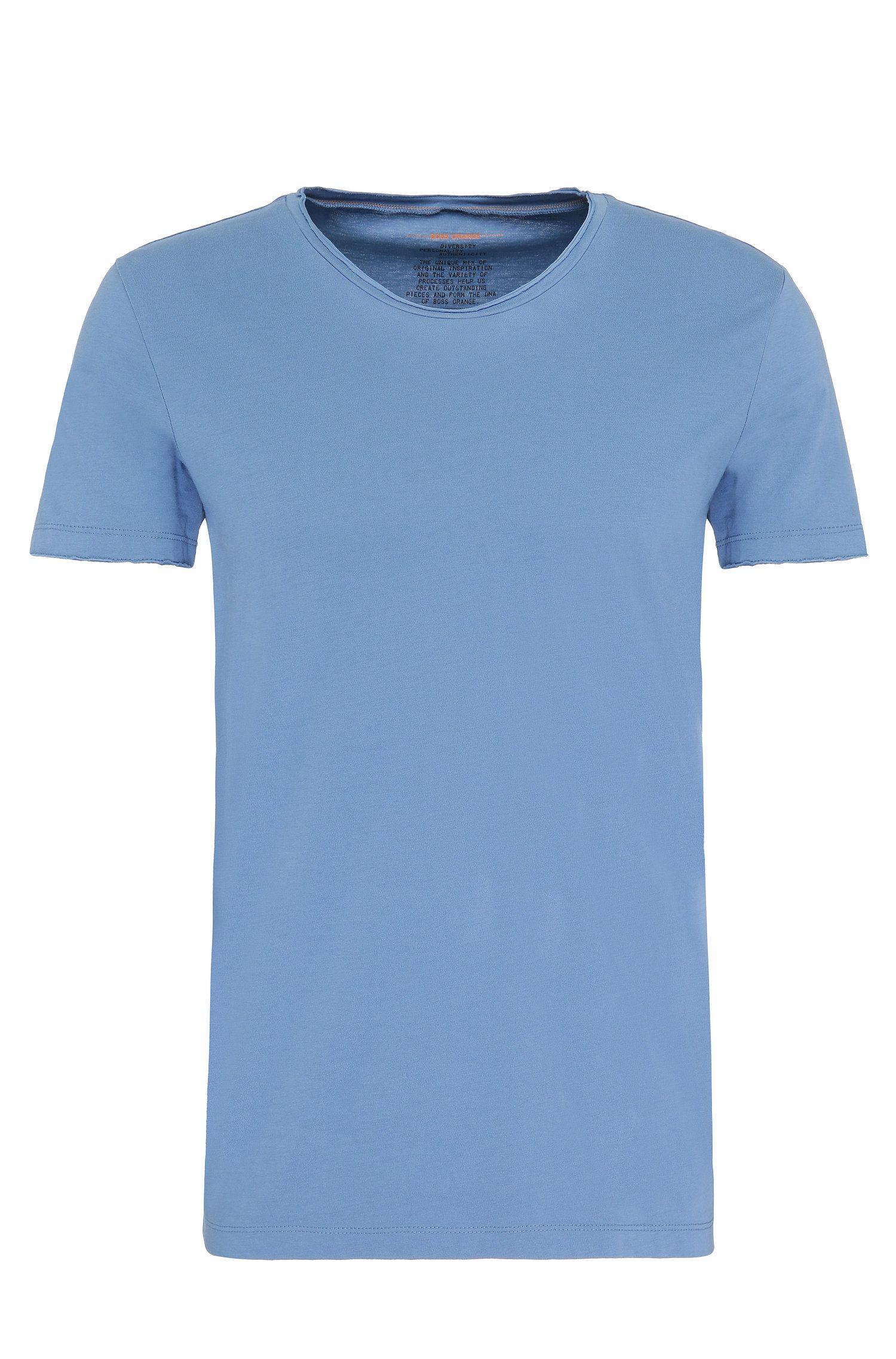 T-shirt BOSS Orange Regular Fit avec détail à bord franc