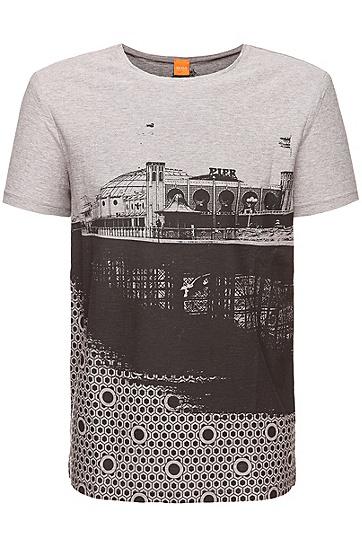 T-Shirt ´Theroux 2` aus Baumwolle, Hellgrau