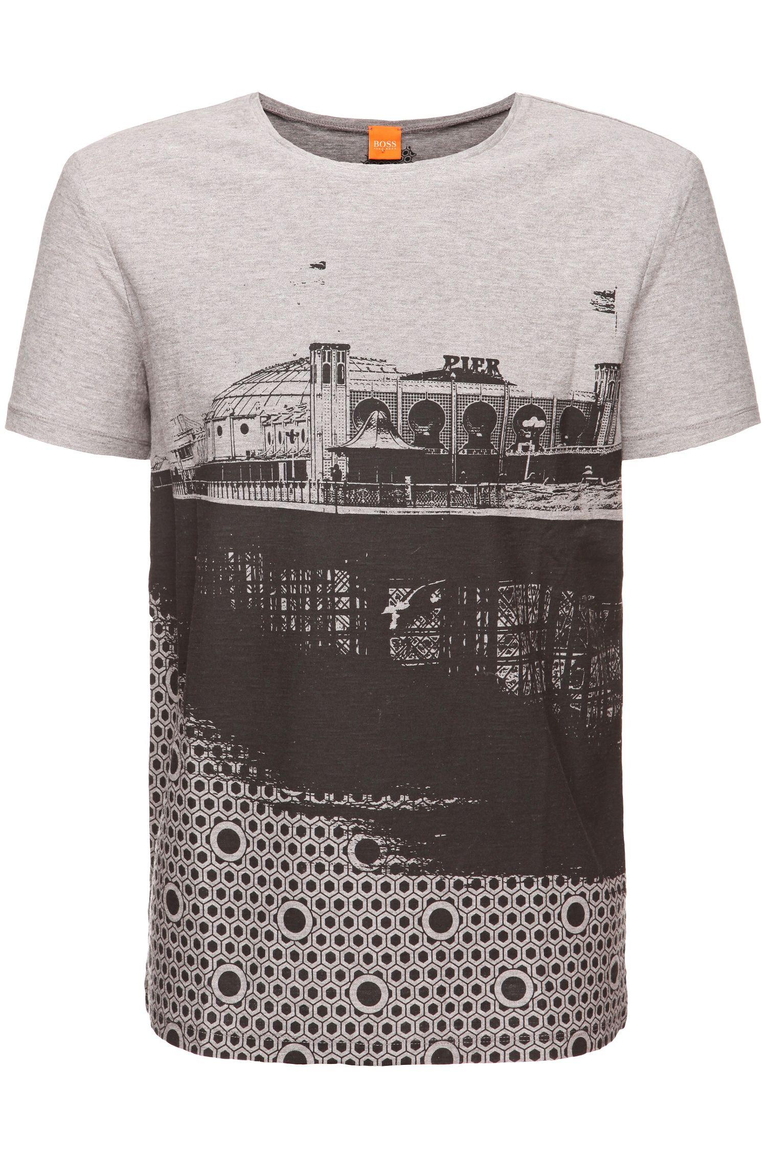T-Shirt ´Theroux 2` aus Baumwolle