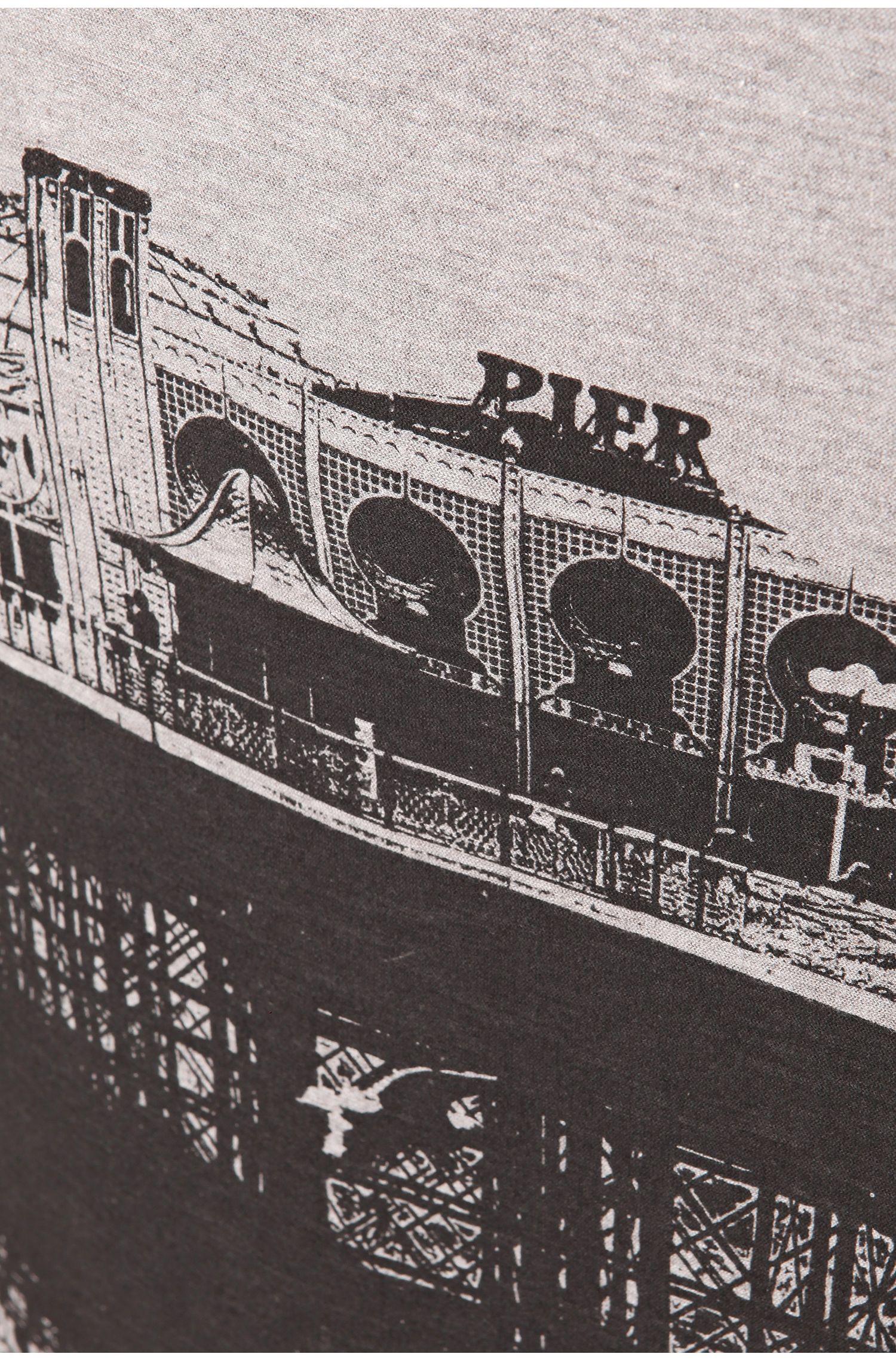 T-shirt 'Theroux 2' van katoen