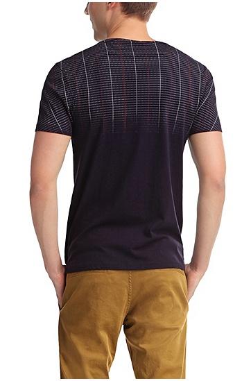 Fashion-Fit T-Shirt ´Tibro` aus Baumwolle, Dunkelblau