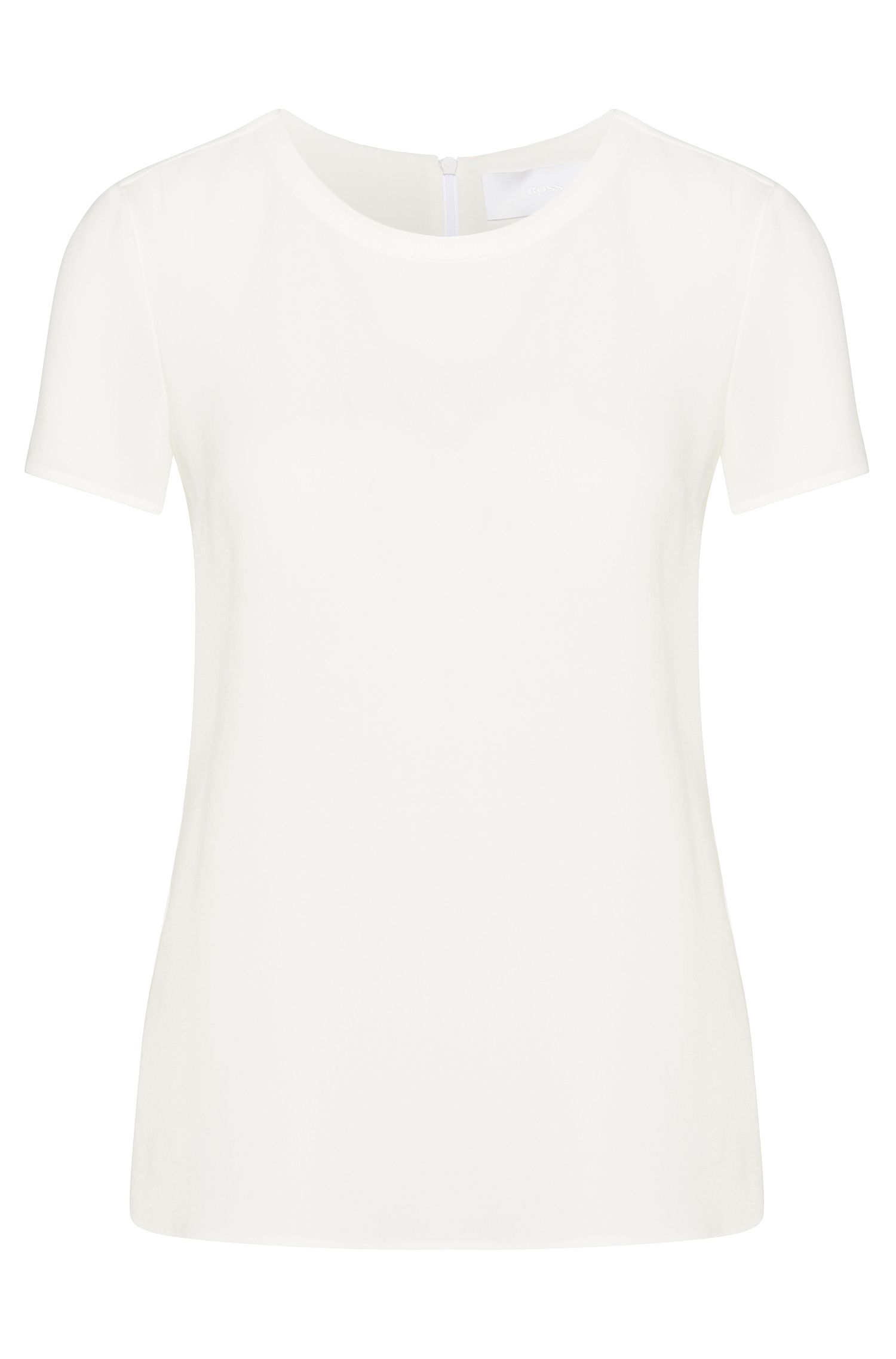Softly falling crepe top from BOSS Womenswear Fundamentals