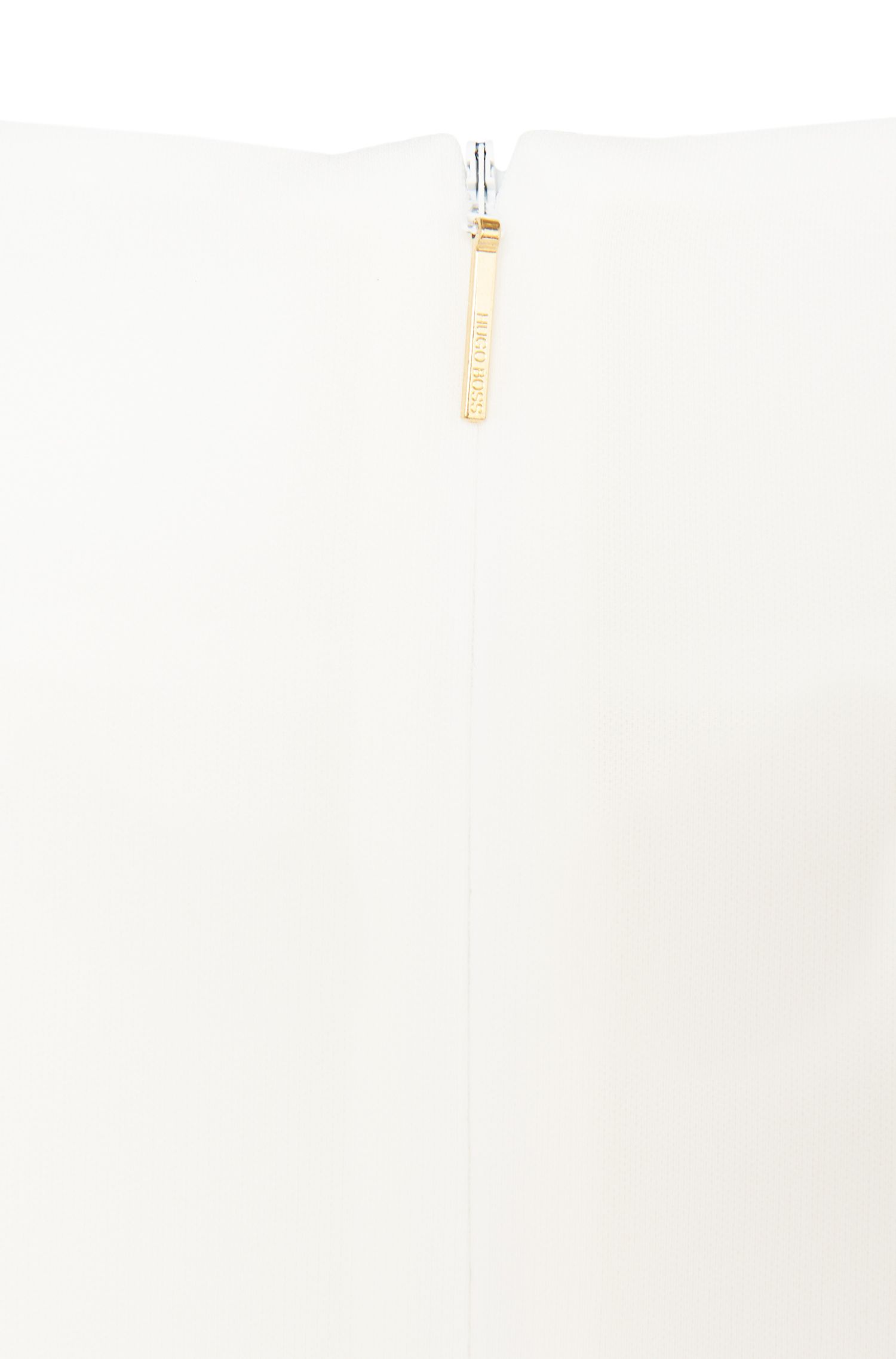 Figurumspielendes Kurzarm-Top aus Material-Mix: 'Ilyna'