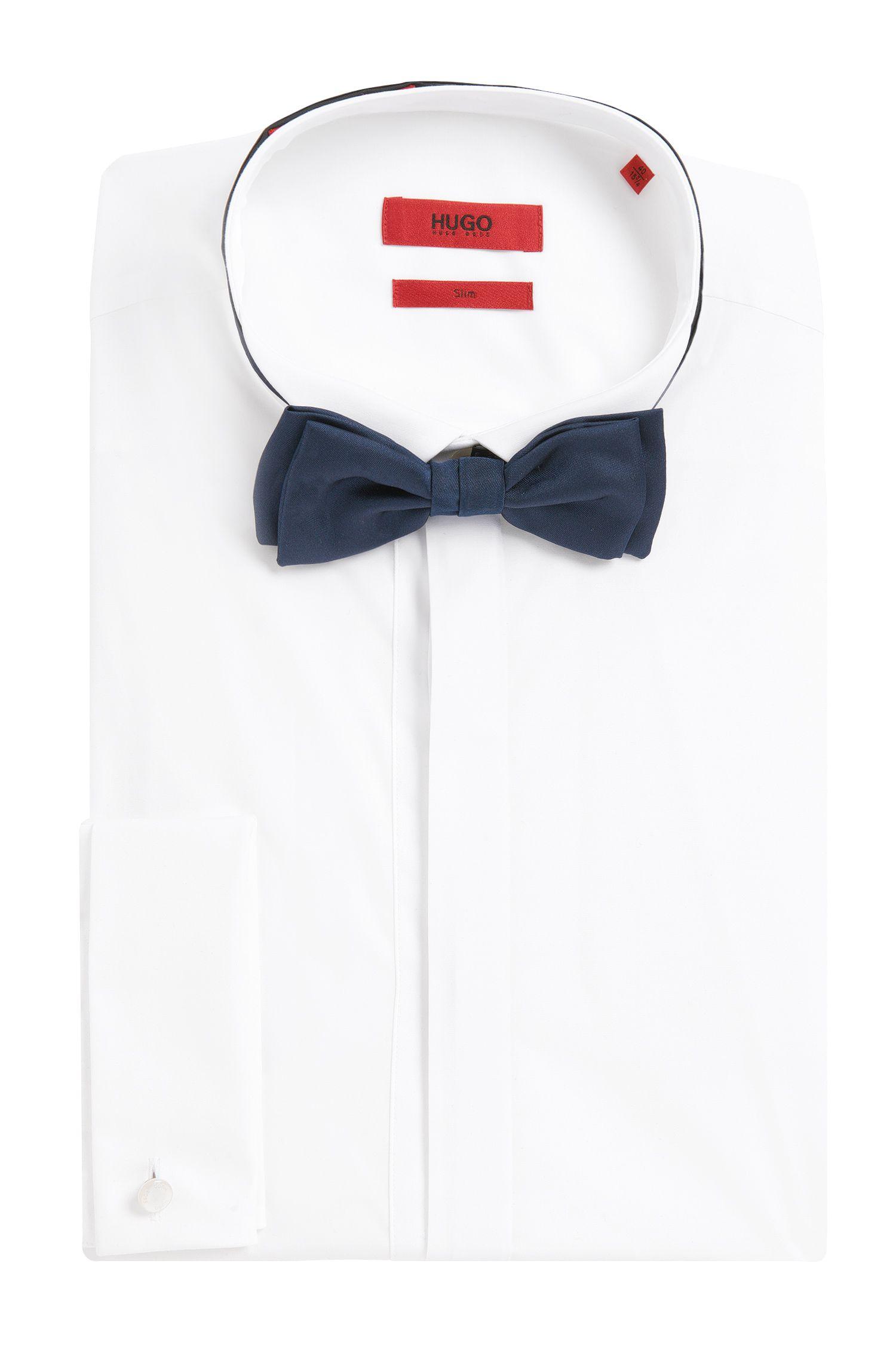 Effen vlinderdasje van zuivere zijde: 'Bow tie'