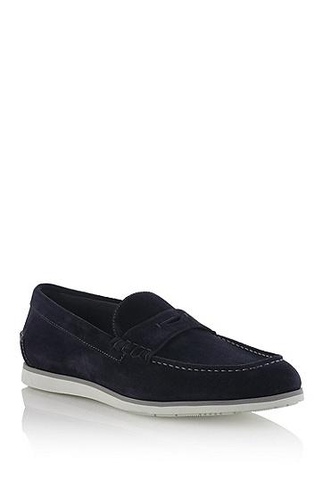 反绒皮莫卡辛鞋'Lesmono',  417_海军蓝色