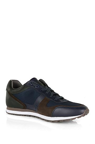'Runbio Tex' | 小牛皮运动鞋,  401_暗蓝色
