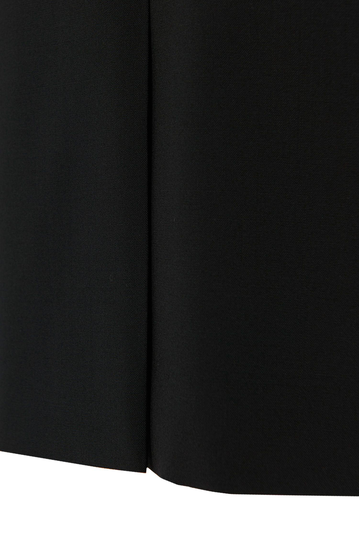 Kokerrok met smalle taille, van scheerwol met stretch: 'Vilea'