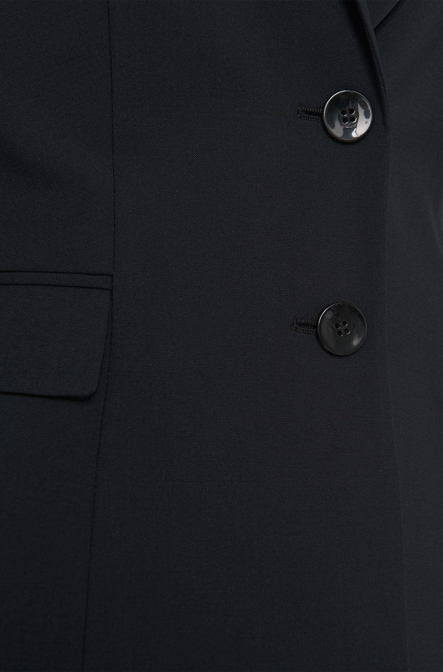 Taillierter Kurz-Blazer aus elastischer Schurwolle: 'Jaru'