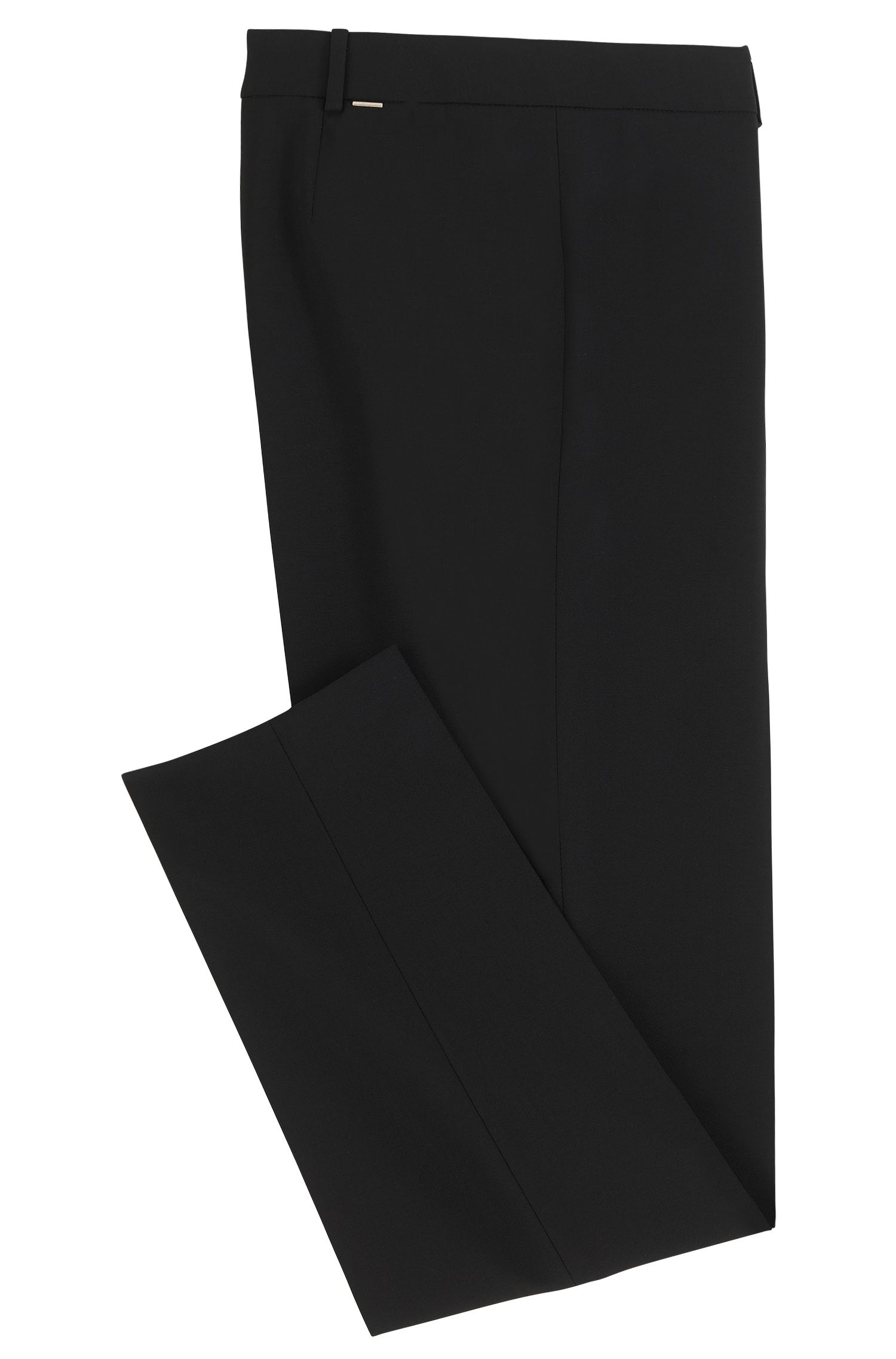 Slim-Fit Hose aus elastischer Schurwolle: 'Tiluna'