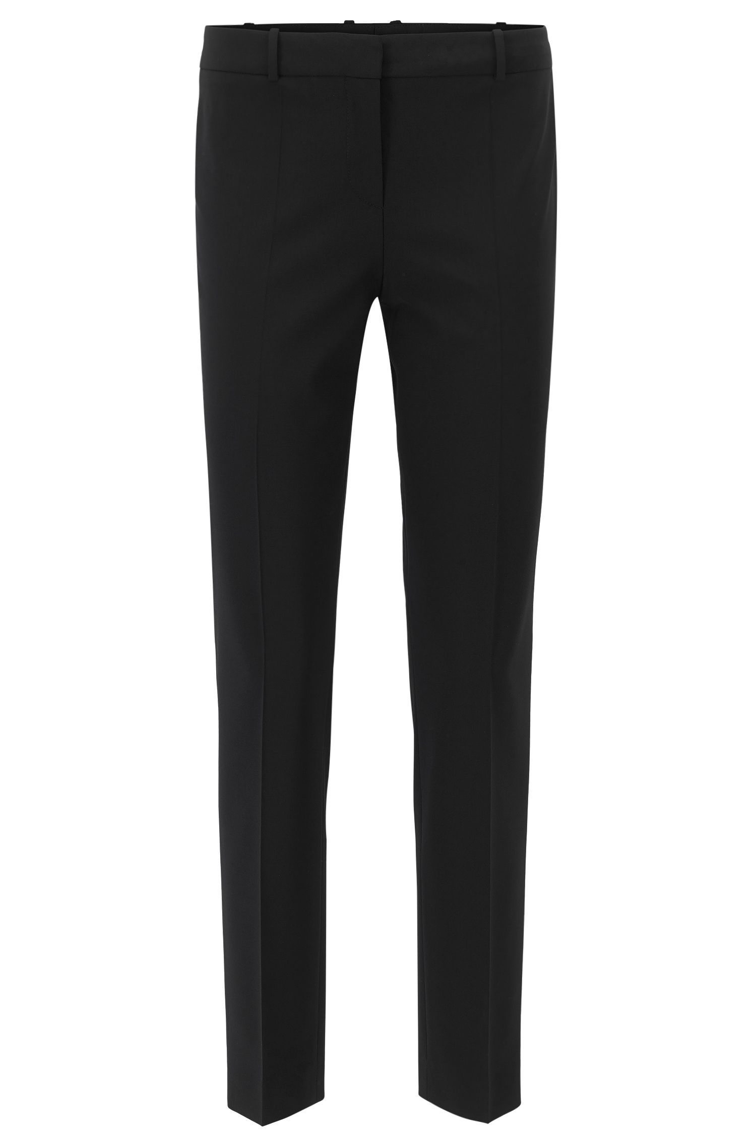 Slim fit trousers in stretch new wool: 'Tiluna'
