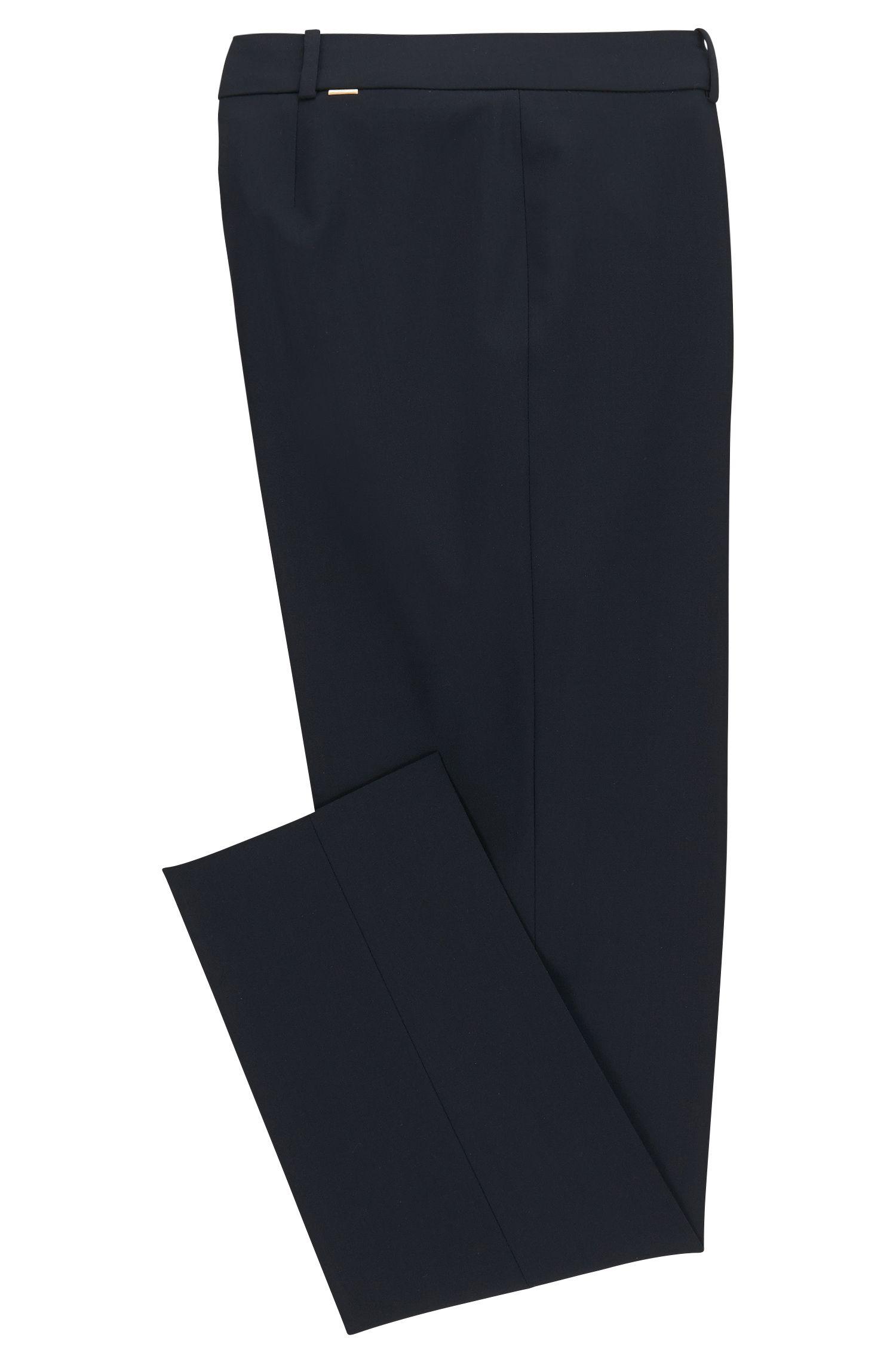 Pantalon Slim Fit en laine vierge extensible: «Tiluna»