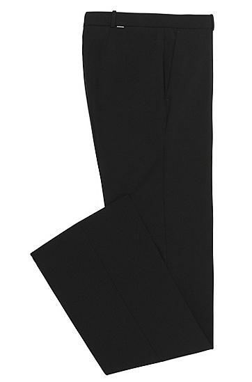 Boot-Cut Hose aus elastischem Schurwoll-Mix: 'Tulea', Schwarz