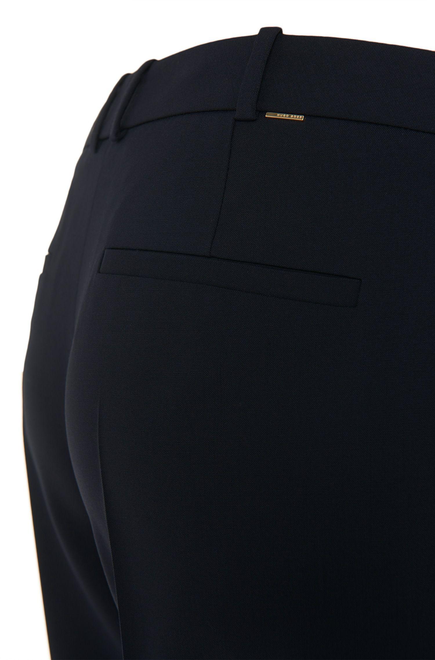 Straight-Leg Hose aus elastischem Schurwoll-Mix: 'Tamea'