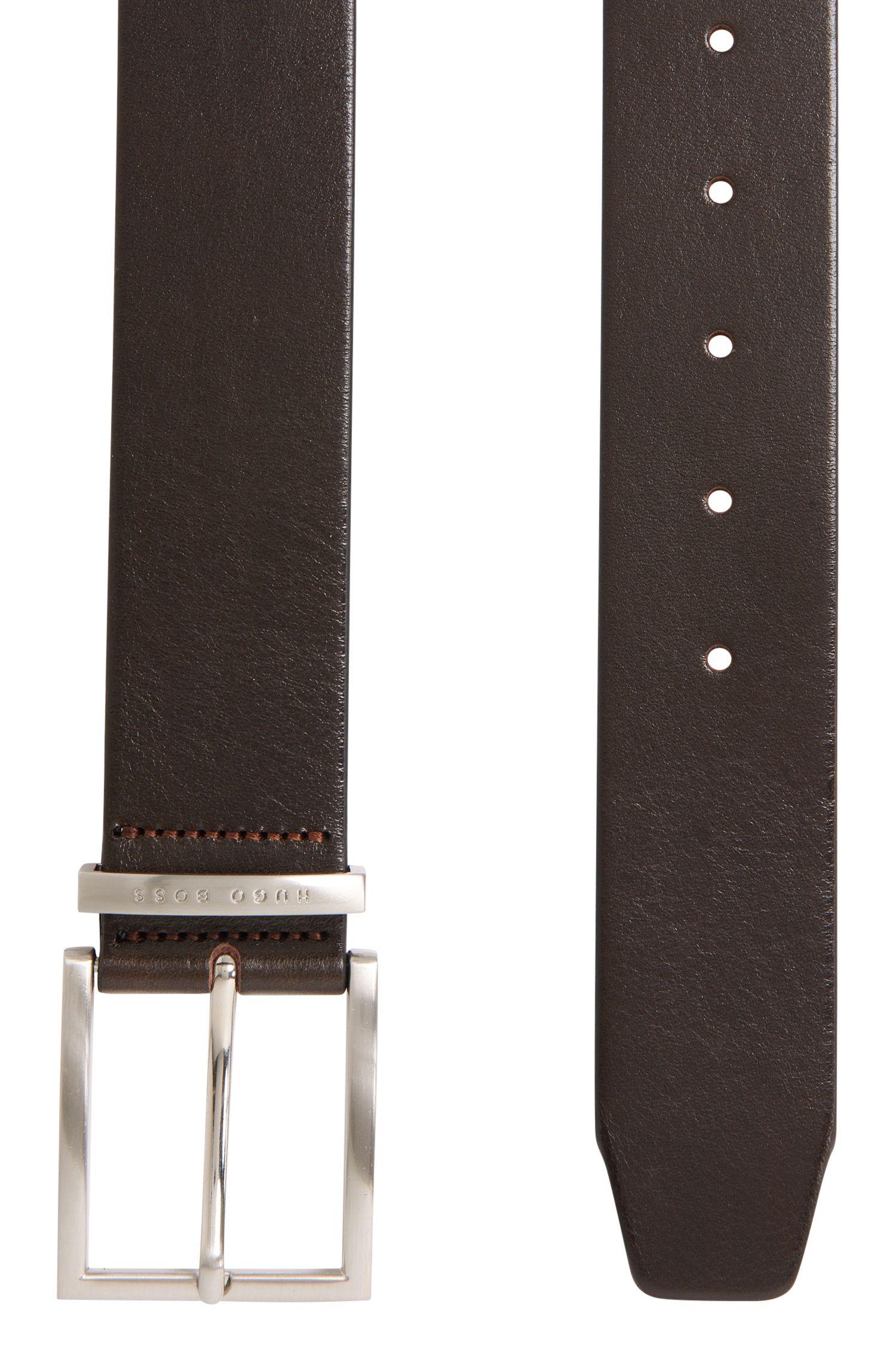 Ledergürtel mit fein genarbter Struktur: 'Buddy'