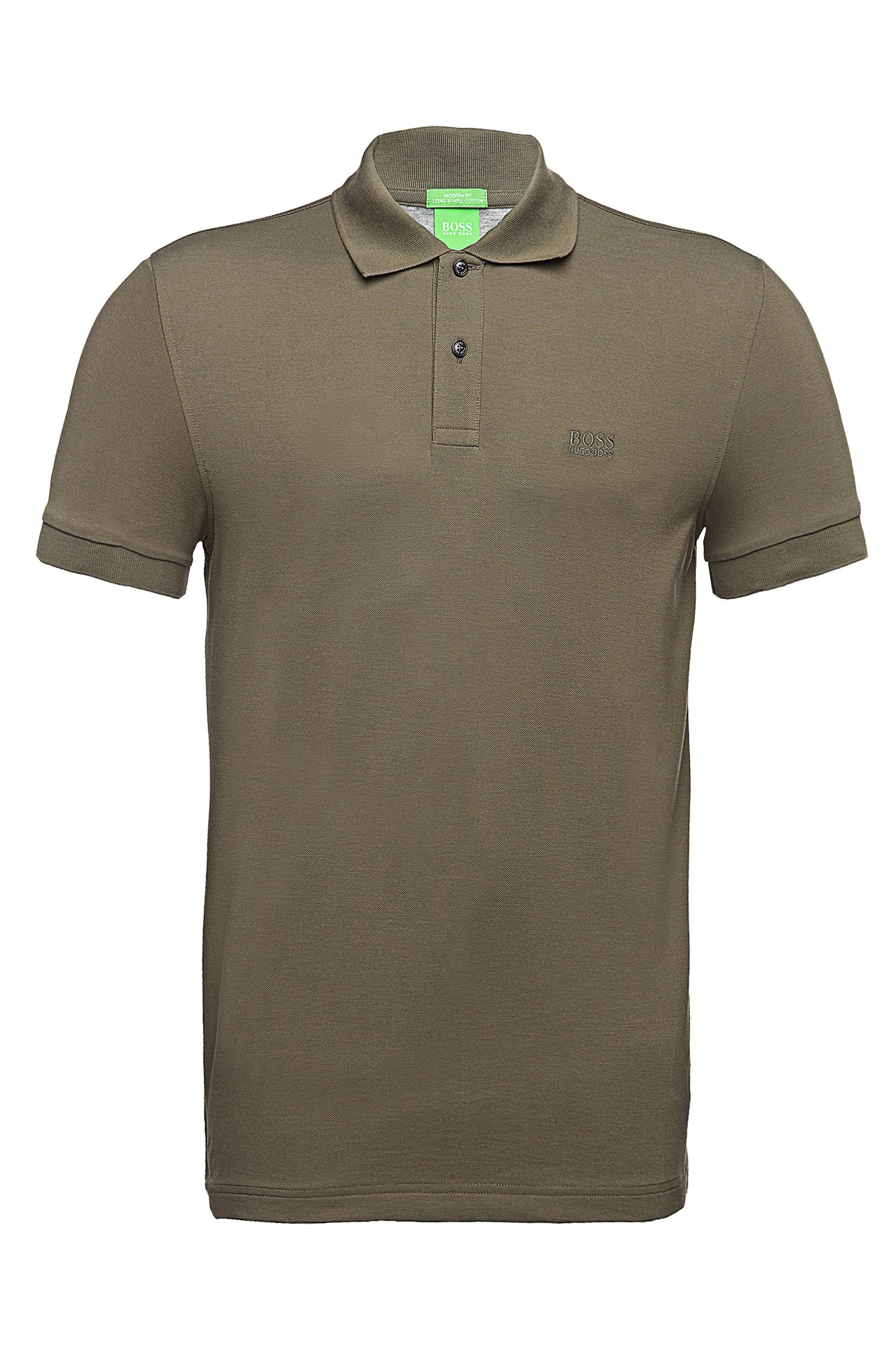 Regular-fit piqué polo shirt with tonal details