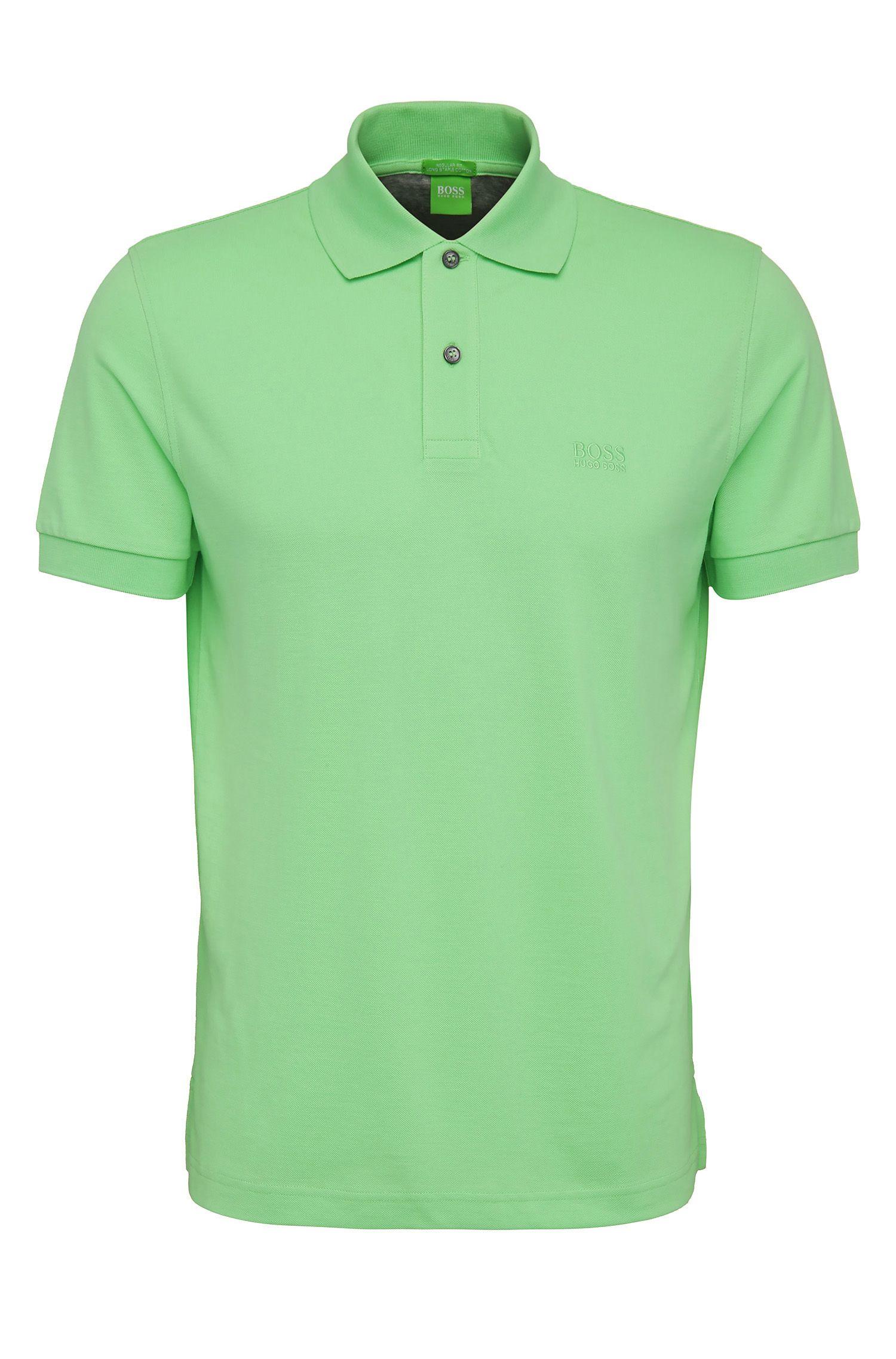 Regular-fit piqué poloshirt met ton-sur-ton details van BOSS Green