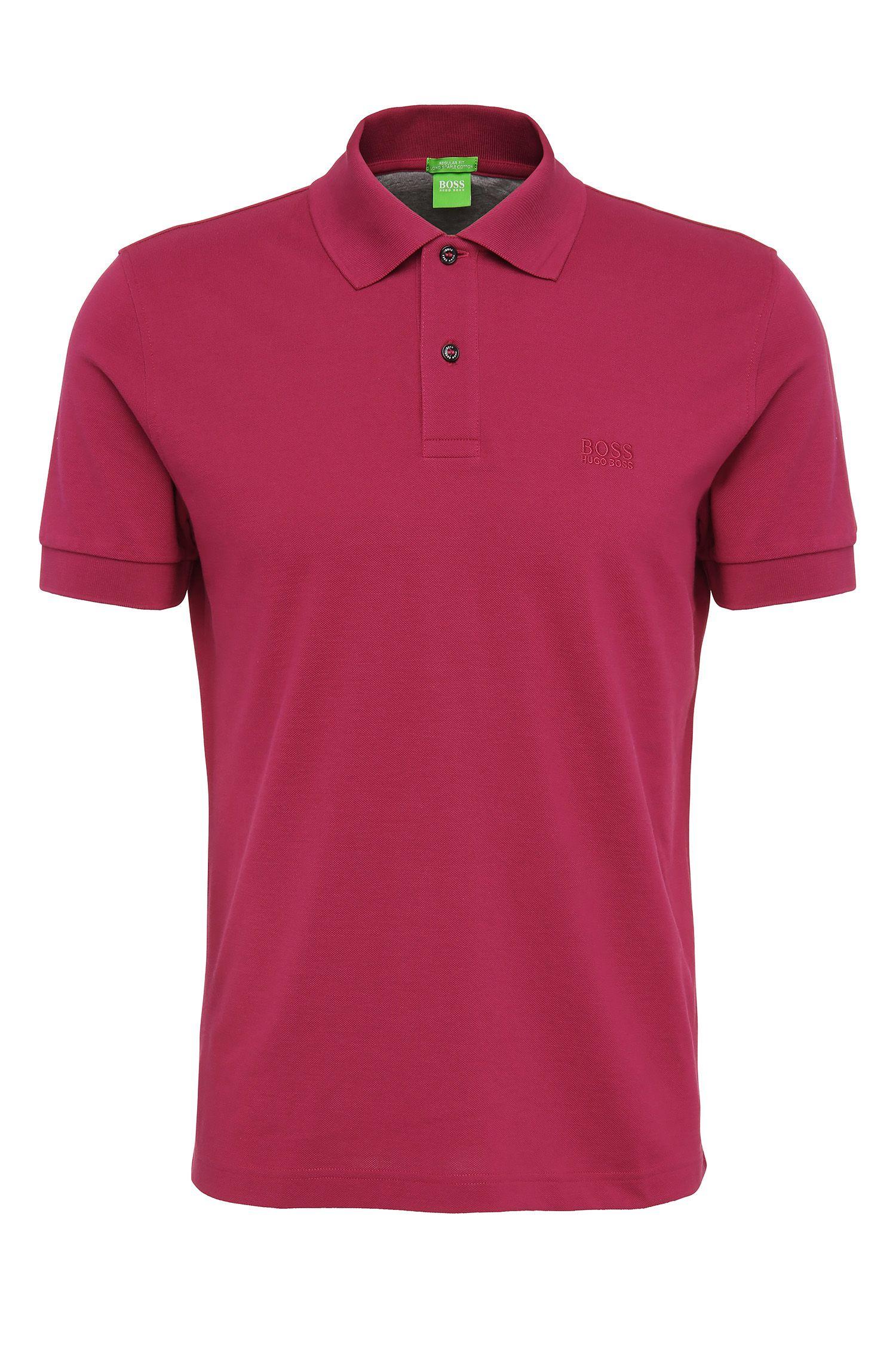 Regular-fit piqué polo shirt with tonal details