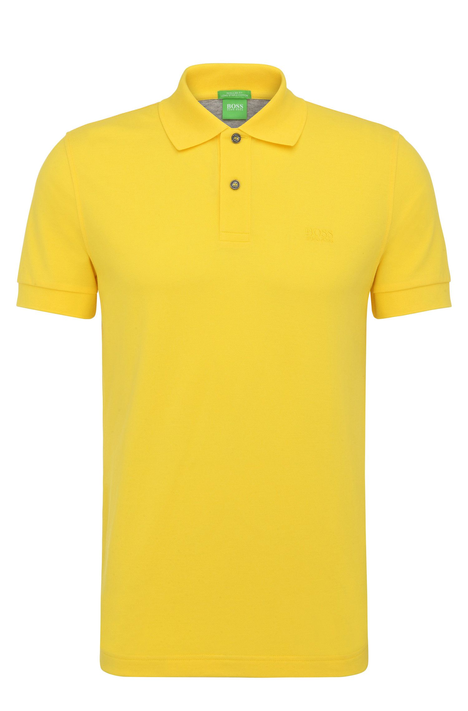 Regular-Fit Poloshirt aus Piqué mit Ton-in-Ton-Details