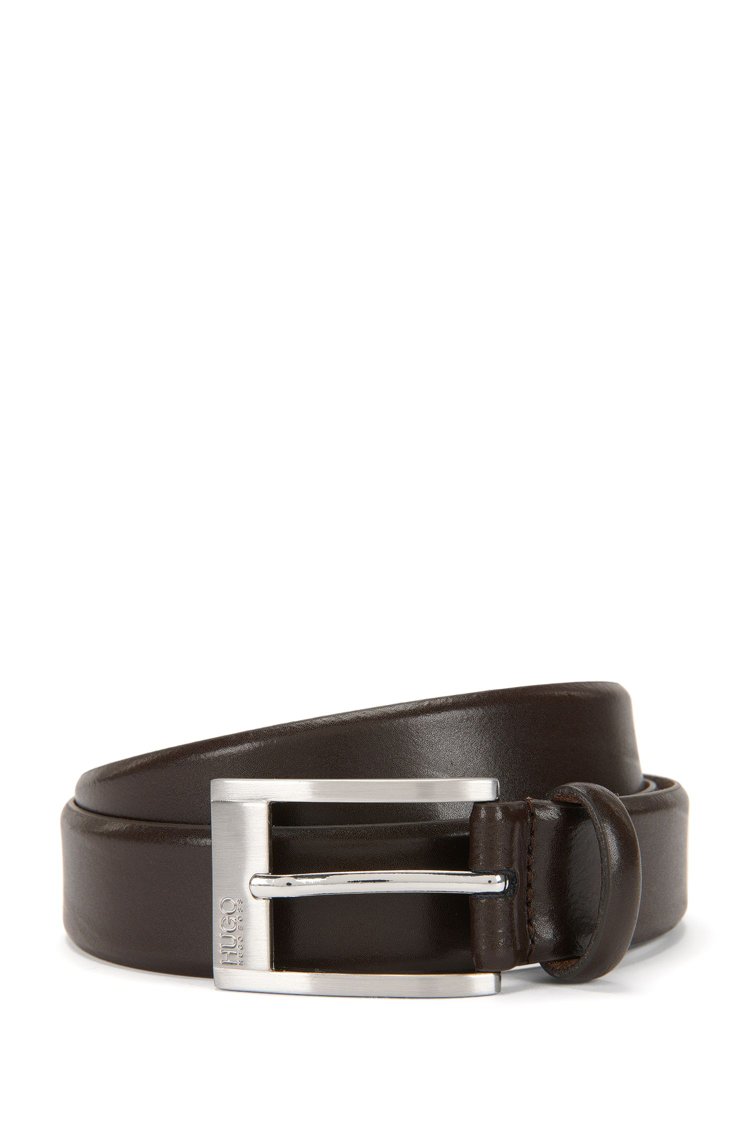Smooth leather belt: 'C-Brandon'