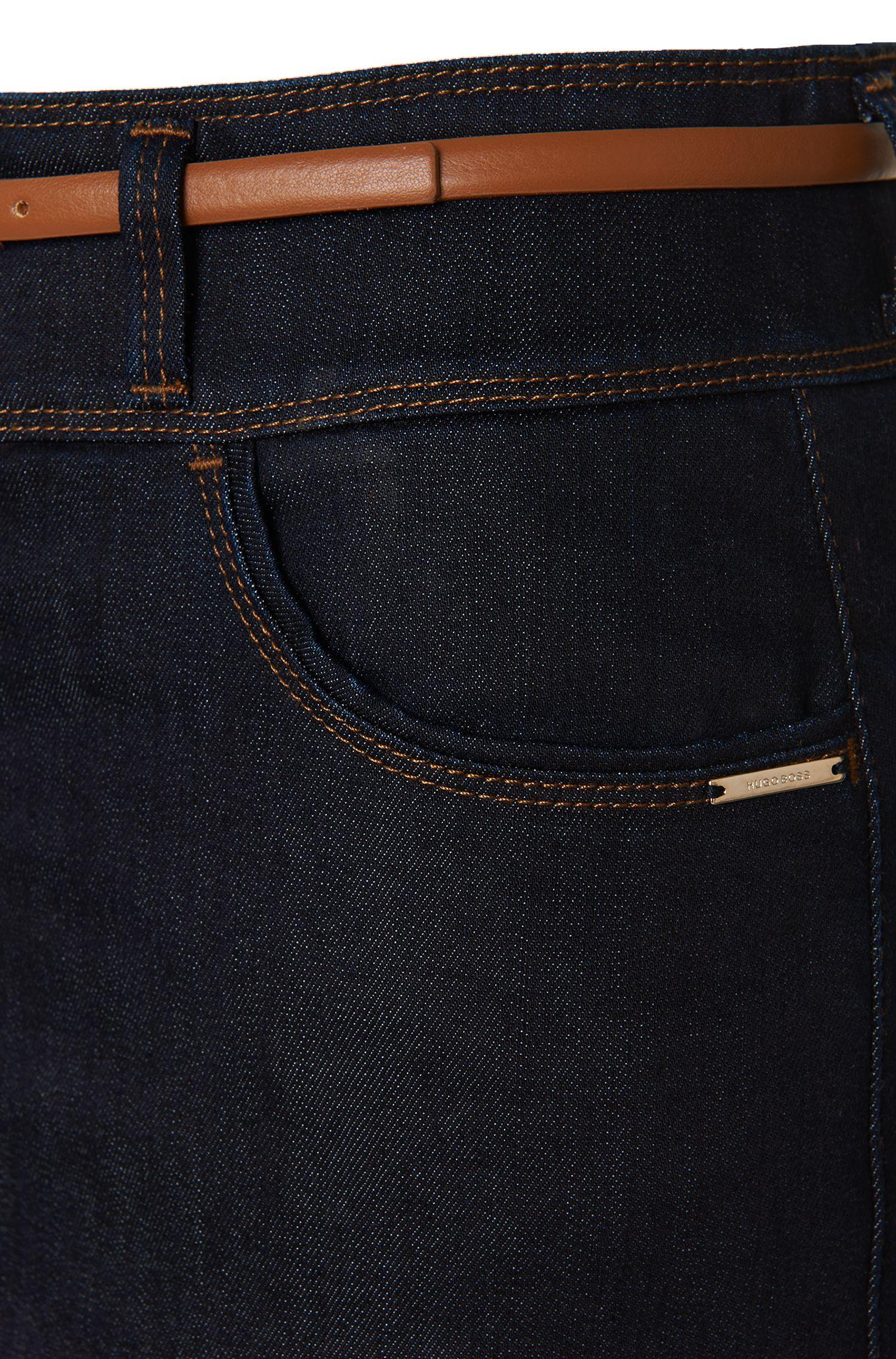 Jupe en jean, en coton mélangé extensible: «Nelana SLOW»