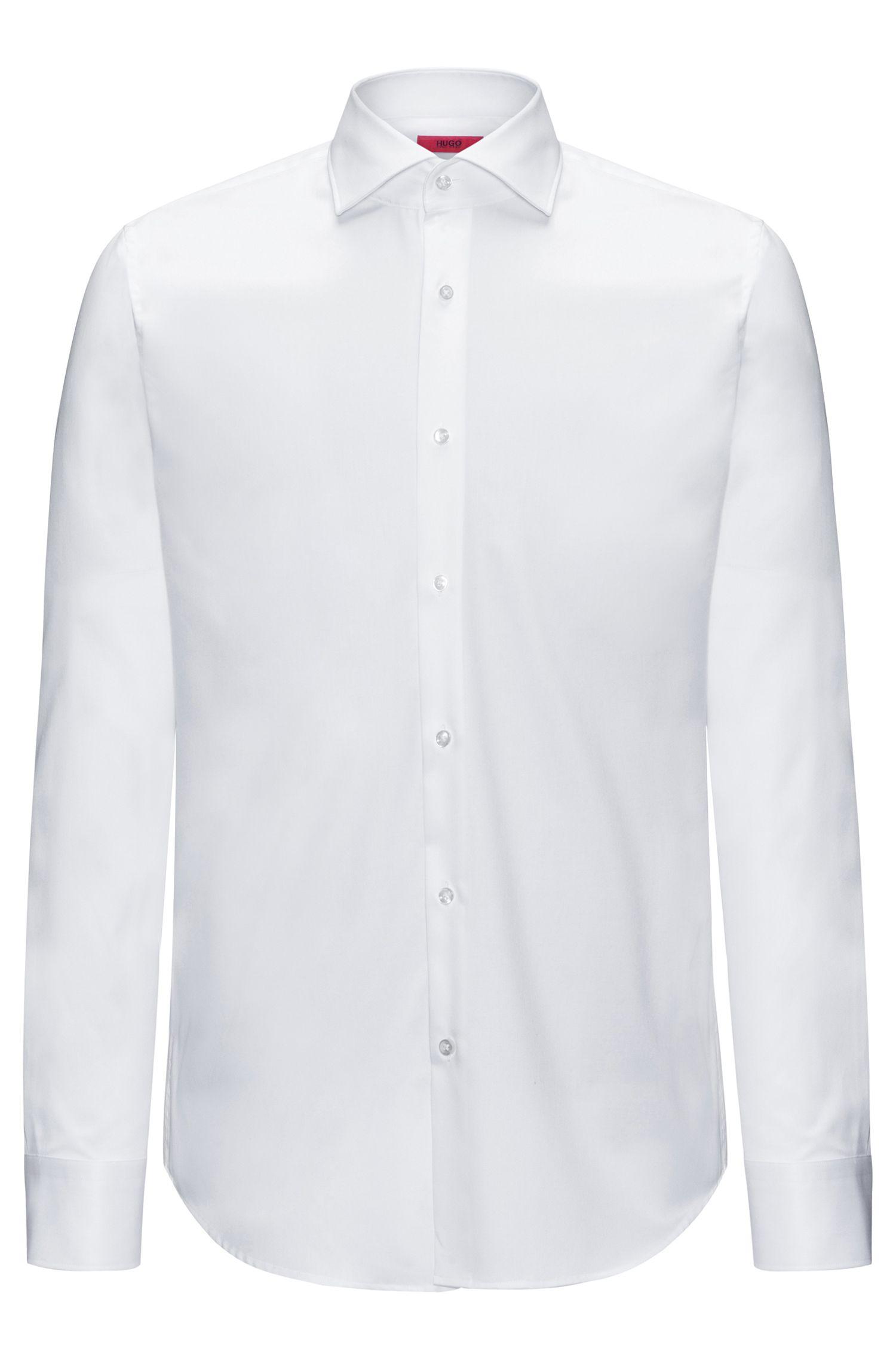 Camisa regular fit en puro algodón