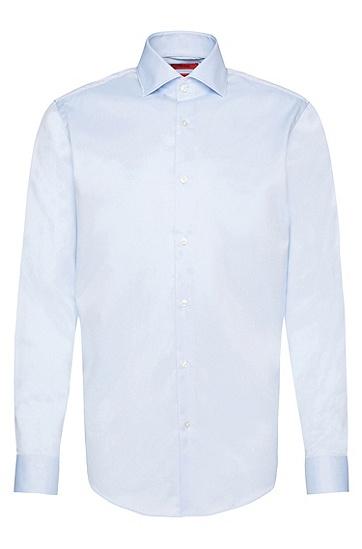 Regular-Fit Hemd aus bügelleichter Baumwolle: 'C-Gerald', Hellblau