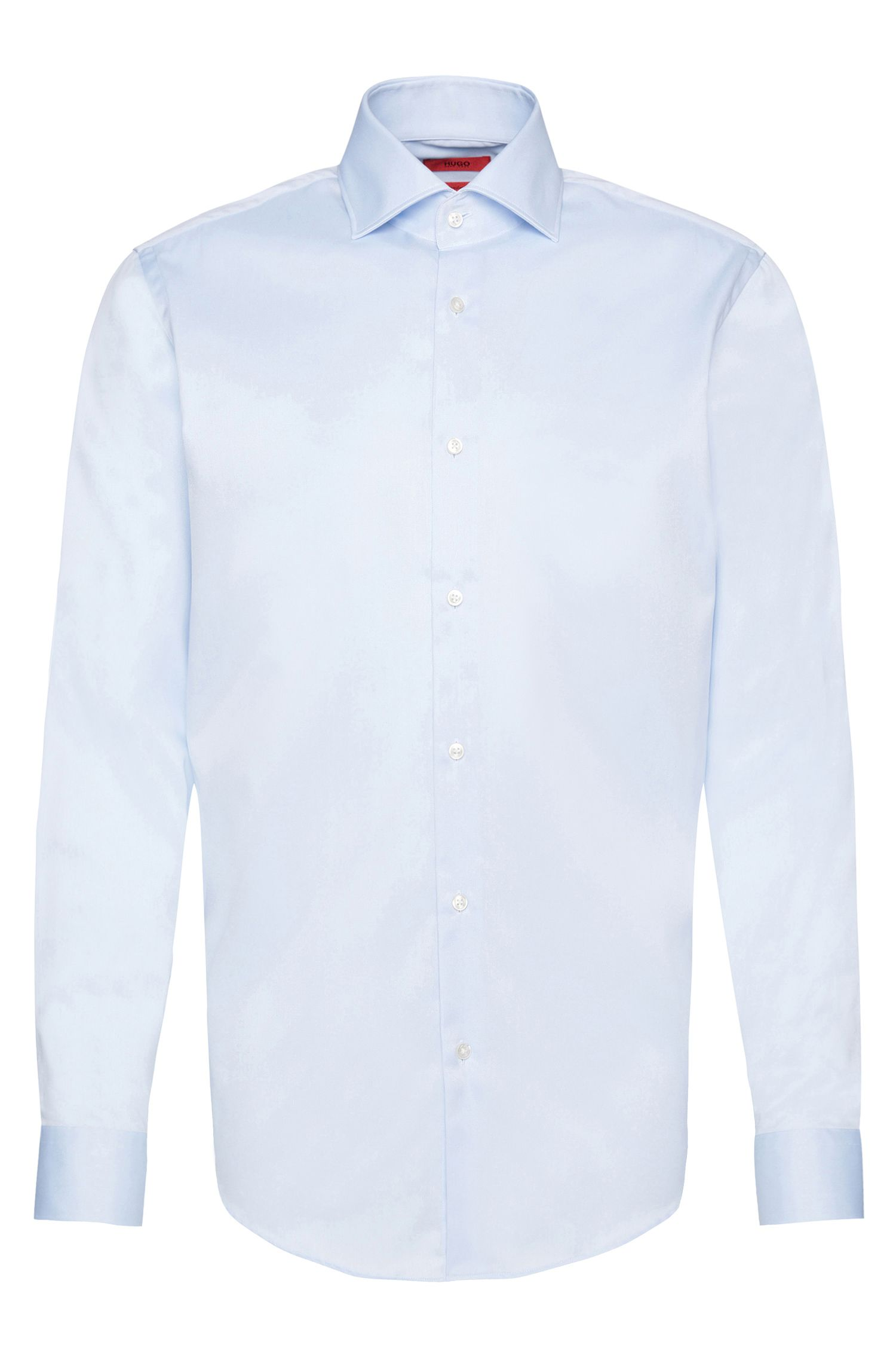 Camicia regular fit in cotone con massimo comfort di stiratura: 'C-Gerald'