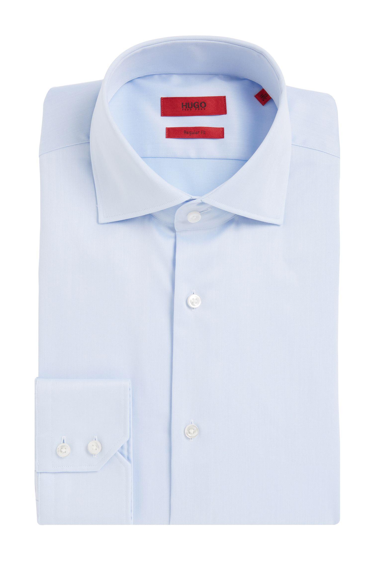 Regular-Fit Hemd aus bügelleichter Baumwolle: 'C-Gerald'