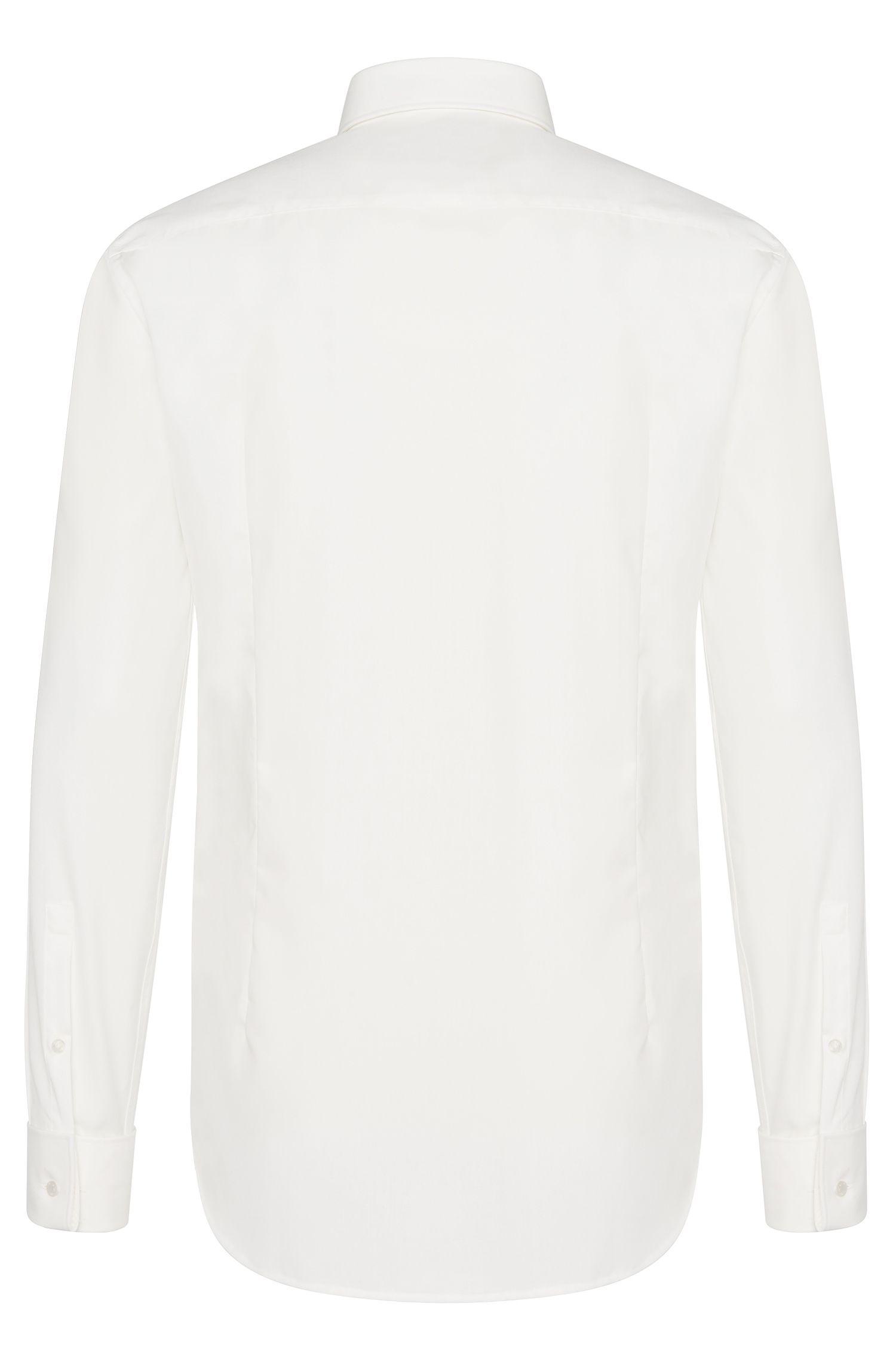 Chemise Slim Fit en coton dotée de poignets mousquetaires: «C-Jaques»