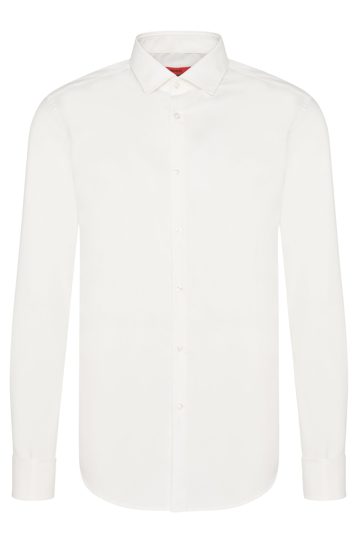 Slim-fit shirt in cotton with turn-back cuffs: 'C-Jaques'