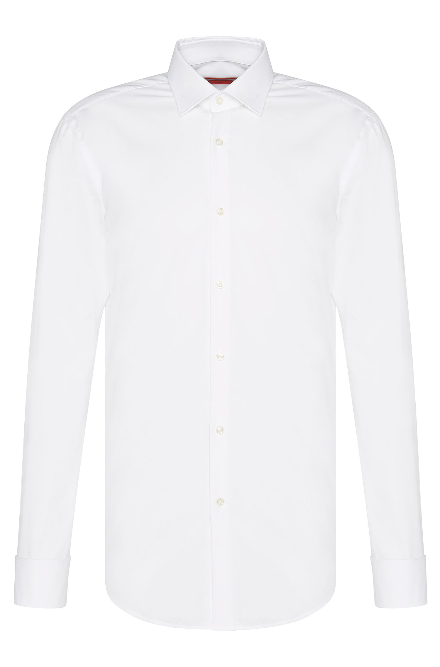 Camisa business slim fit con puños franceses