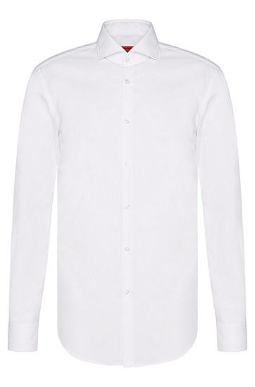 Unifarbenes Slim-Fit Hemd aus Baumwolle: 'C-Jason', Weiß