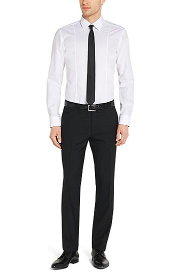 Unifarbenes Slim-Fit Hemd aus Baumwolle: 'C-Phillo', Weiß