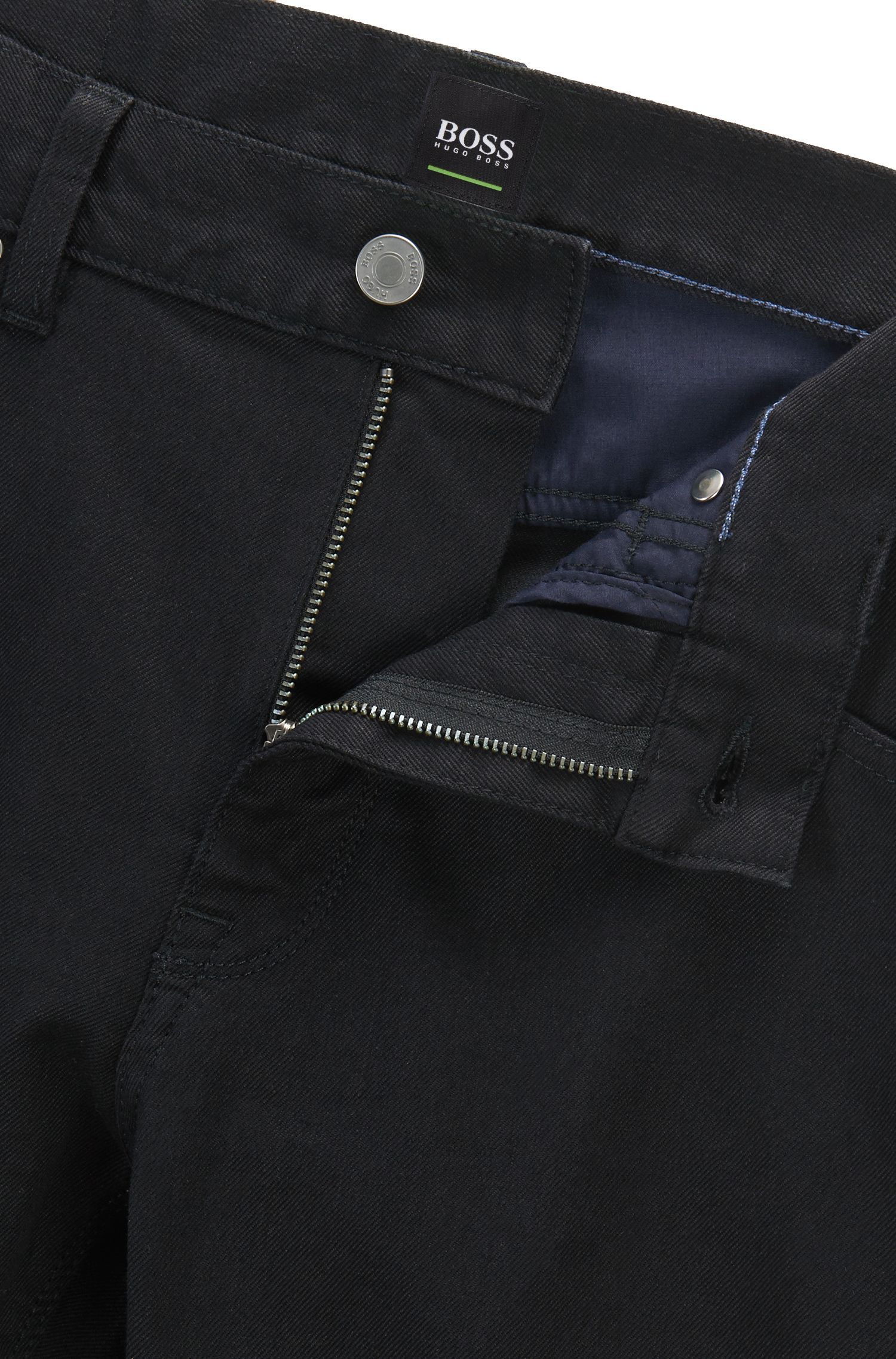 Jeans Regular Fit en coton mélangé extensible: «C-Maine1»