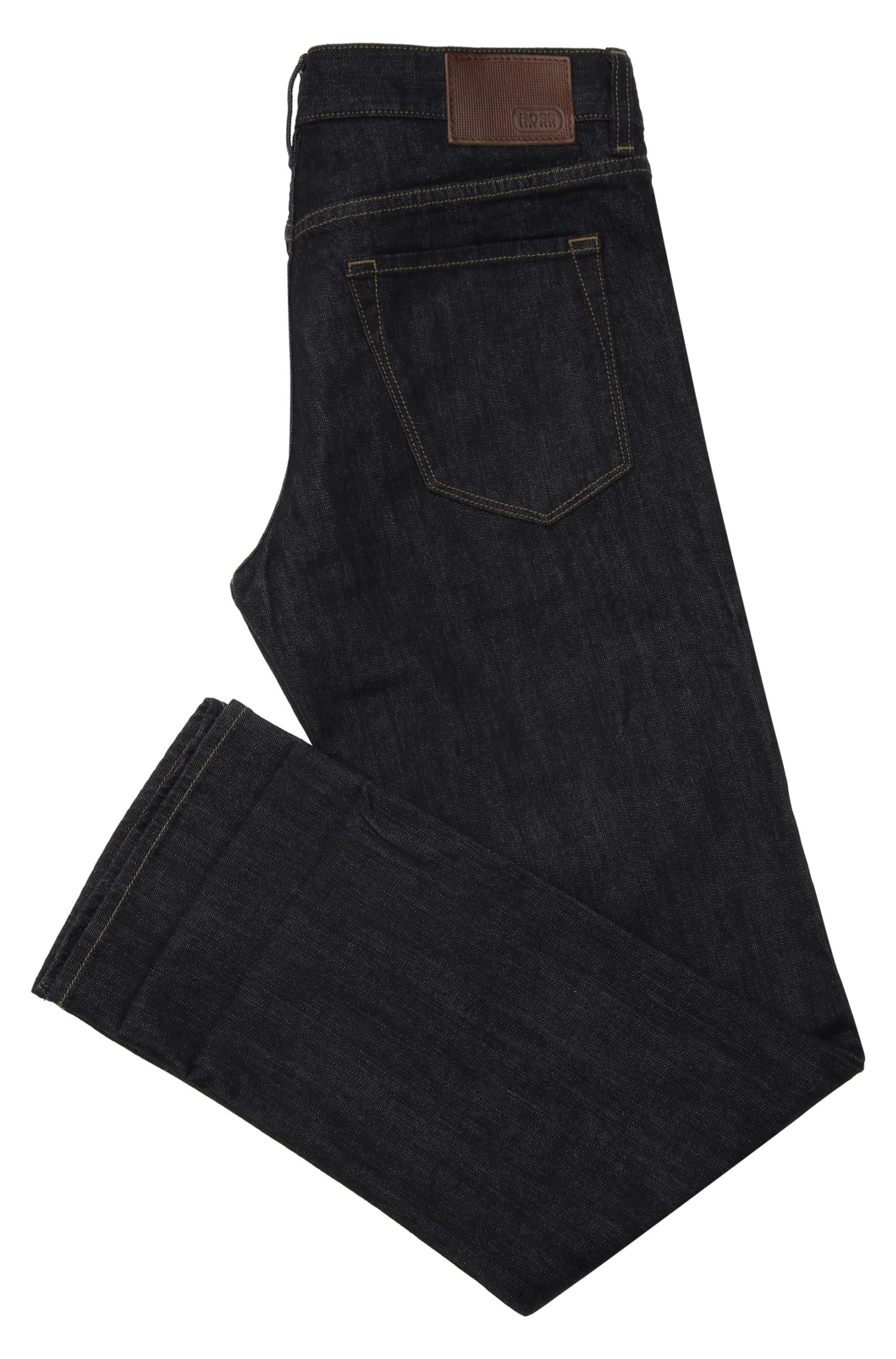 Jeans Regular Fit en coton mélangé extensible : « C-Maine1 »