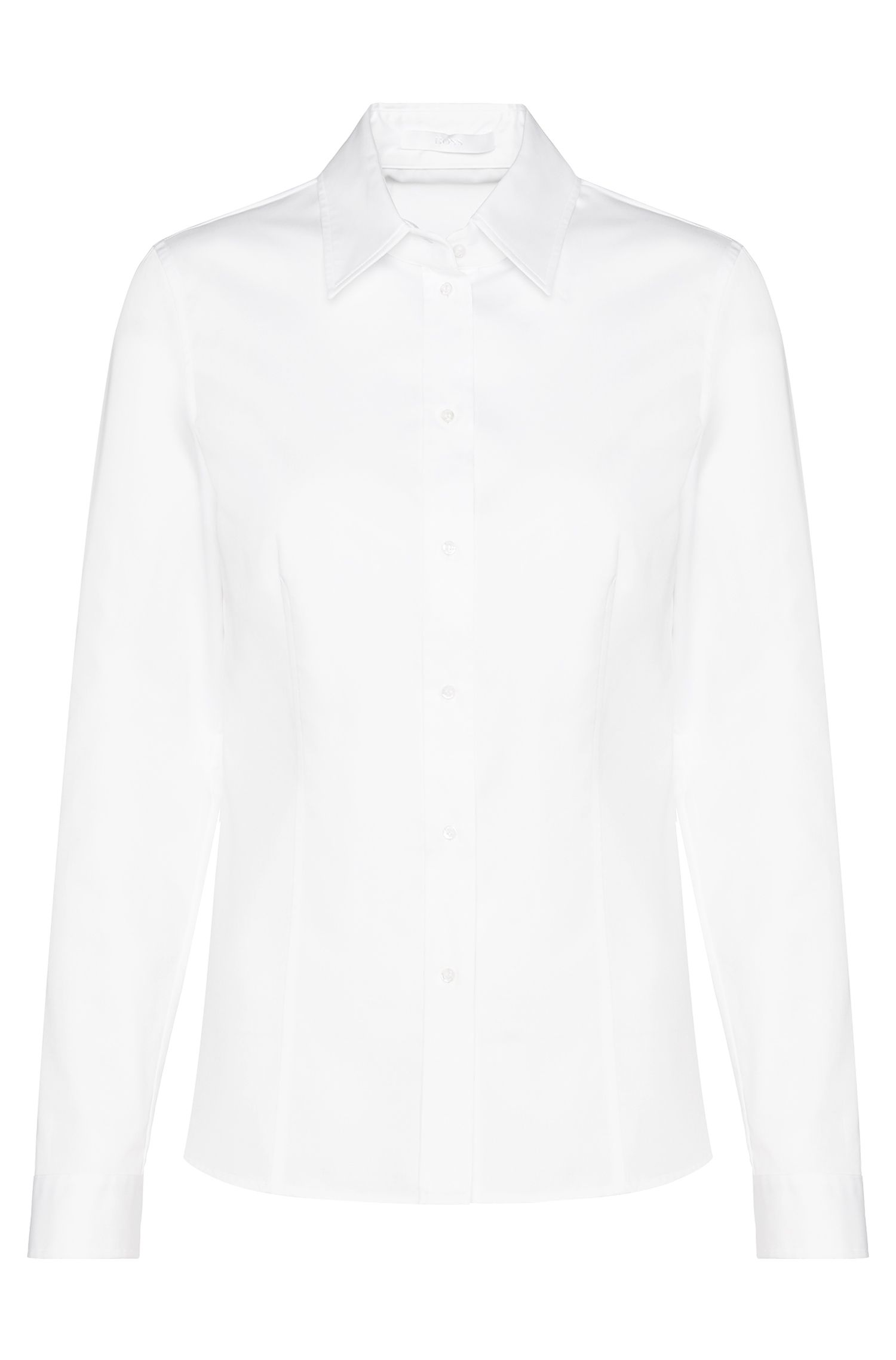 Slim-fit zakelijk overhemd van BOSS Womenswear Fundamentals