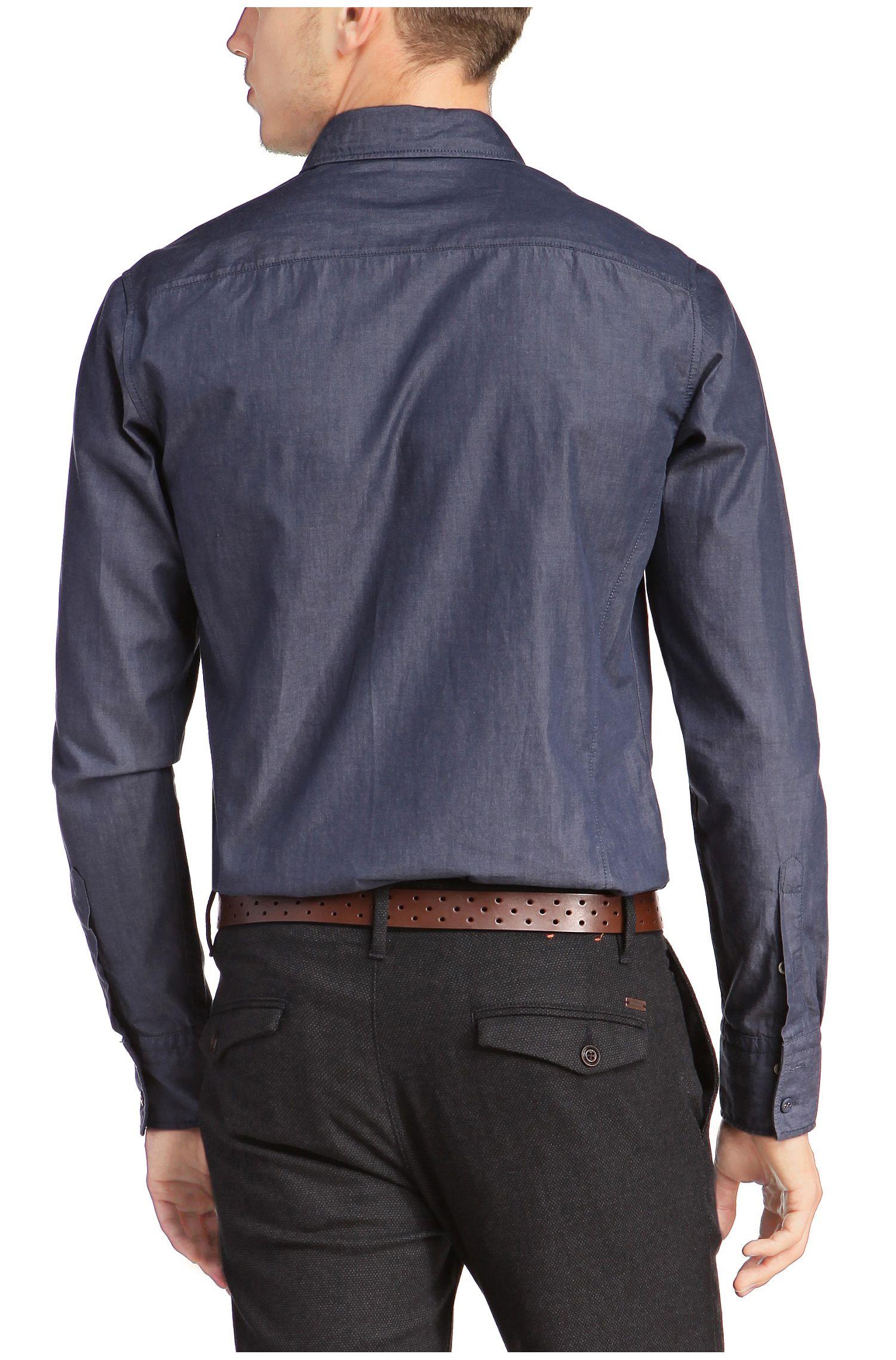 Slim-fit vrijetijdsoverhemd 'EdaslimE' van katoen