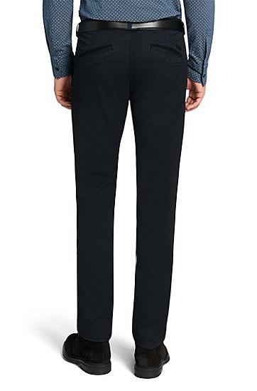 修身版彈性混紡面料斜紋褲'Rice1-D',  402_暗藍色