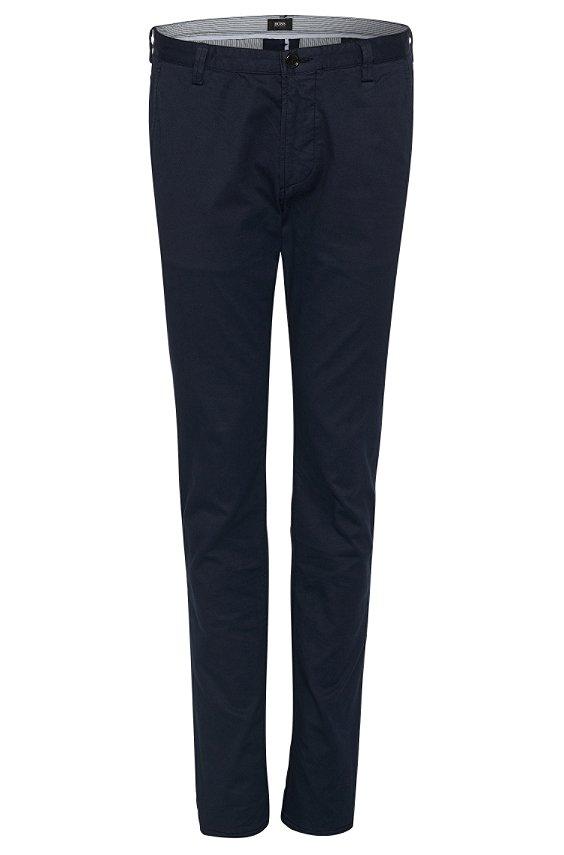 修身版弹性混纺面料斜纹裤'Rice1-D', 402_暗蓝色