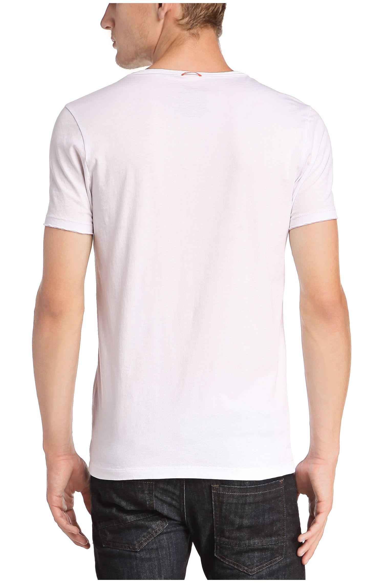 T-shirt en coton à col V: «Tooley»